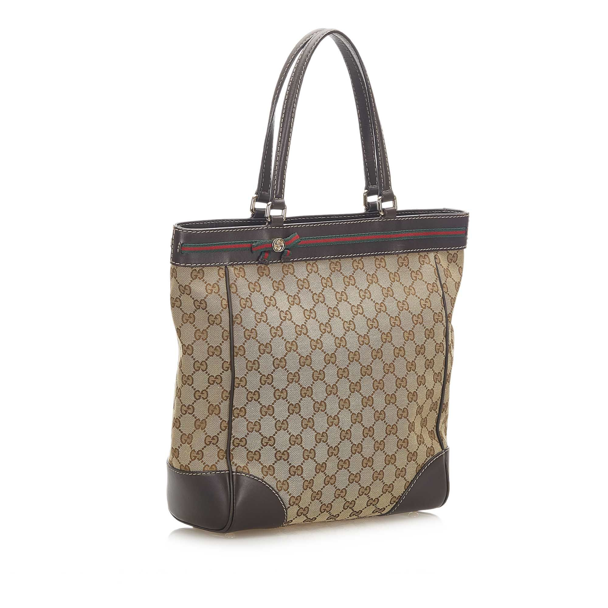 Vintage Gucci GG Canvas Mayfair Tote Brown