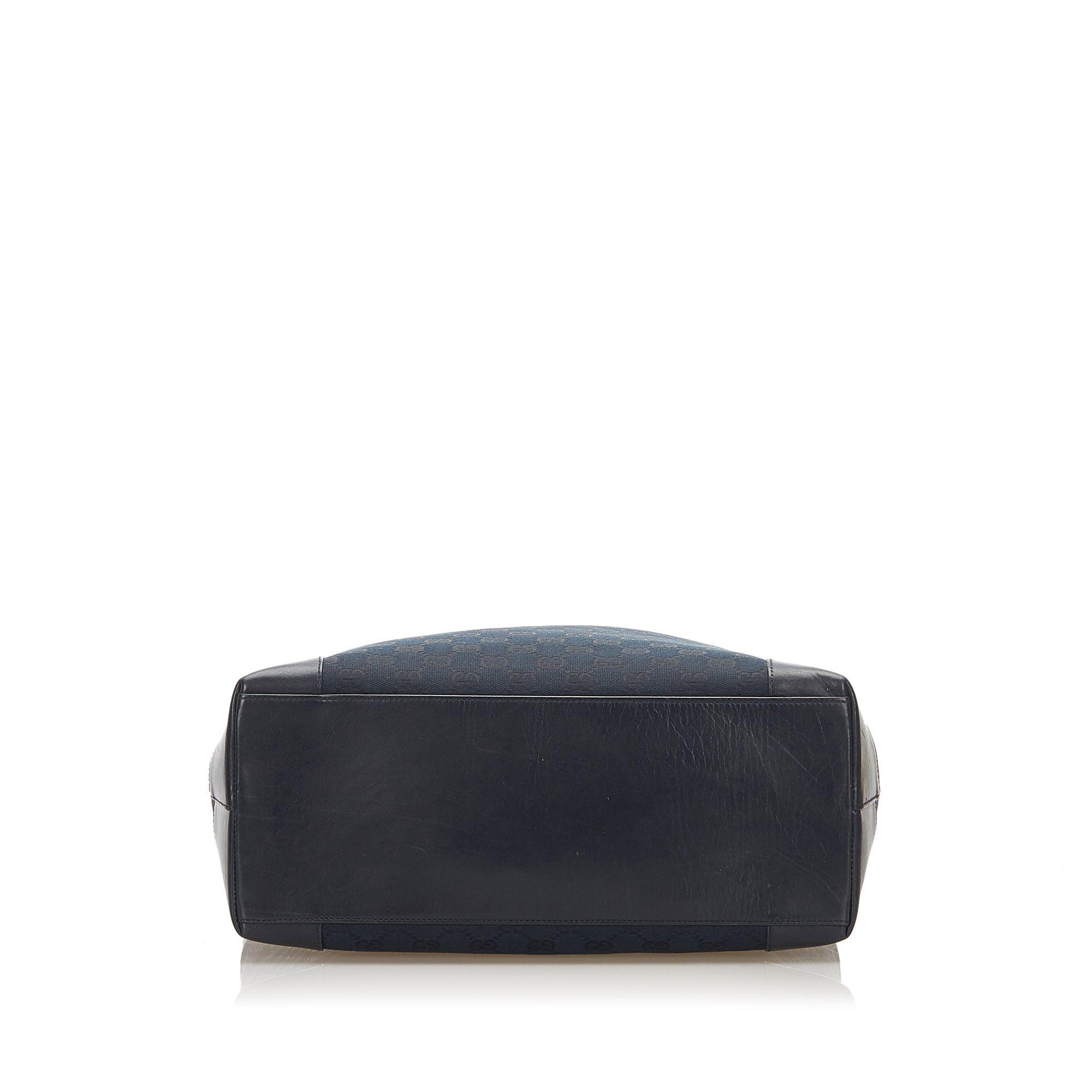 Vintage Gucci GG Canvas Tote Bag Black