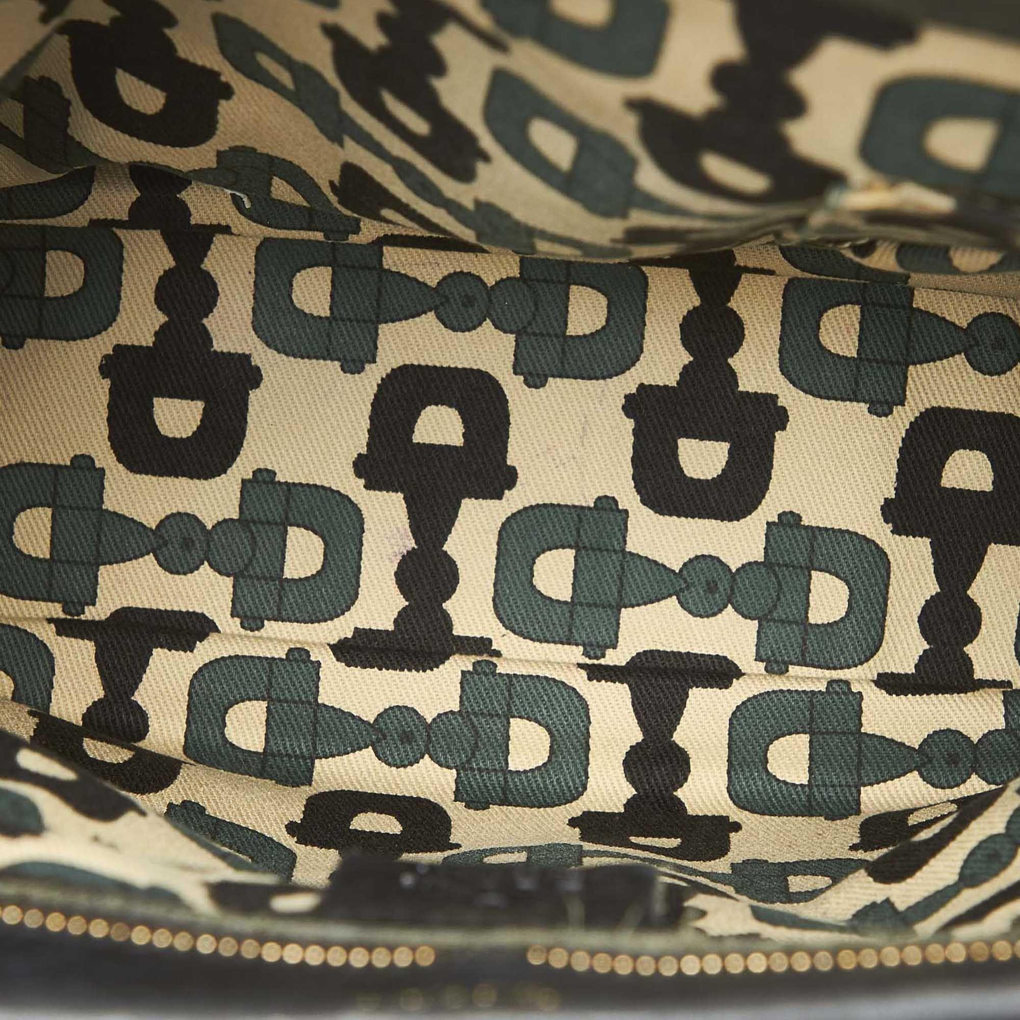 Vintage Gucci Guccissima New Jackie Handbag Black
