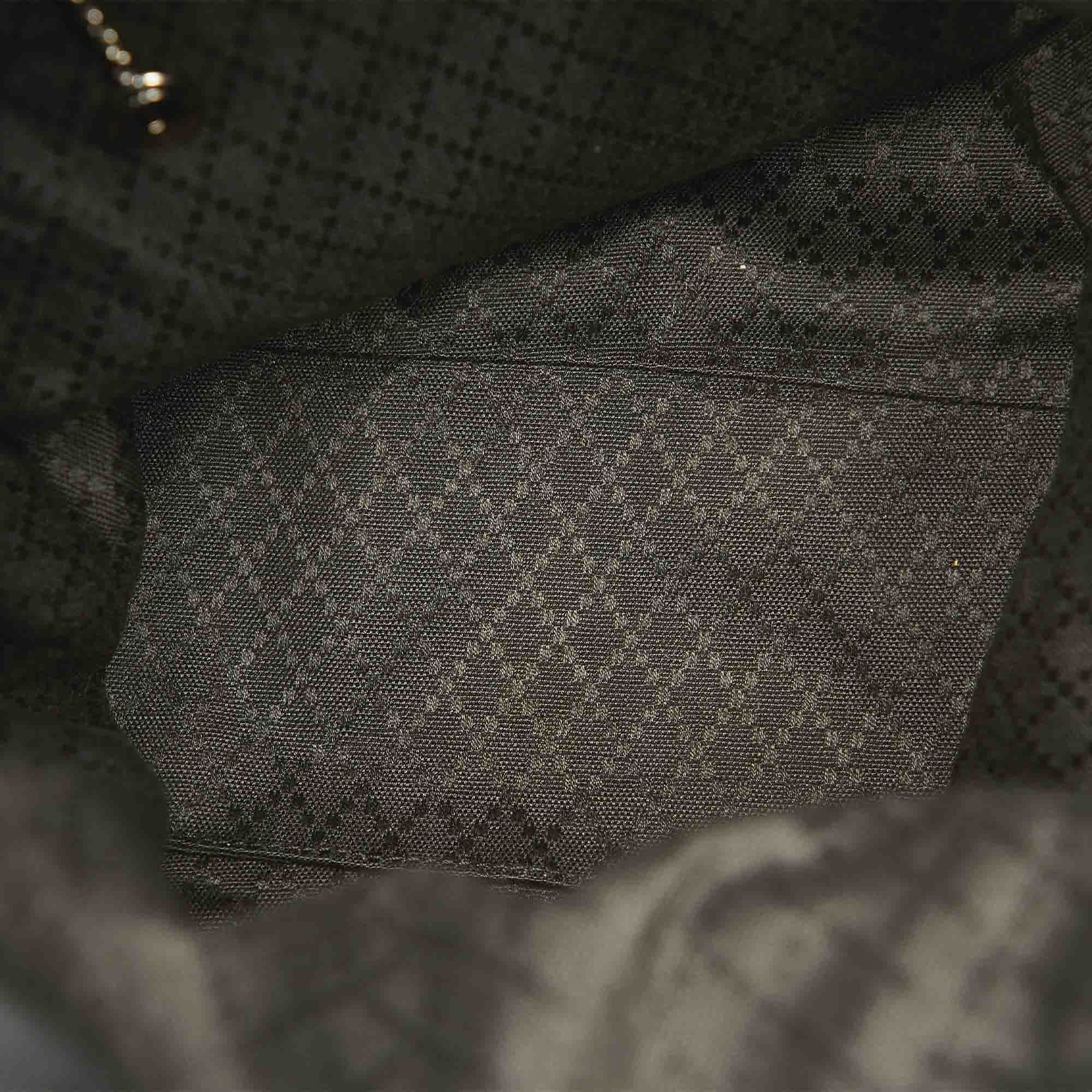 Vintage Gucci Bamboo Canvas Tote Bag Black