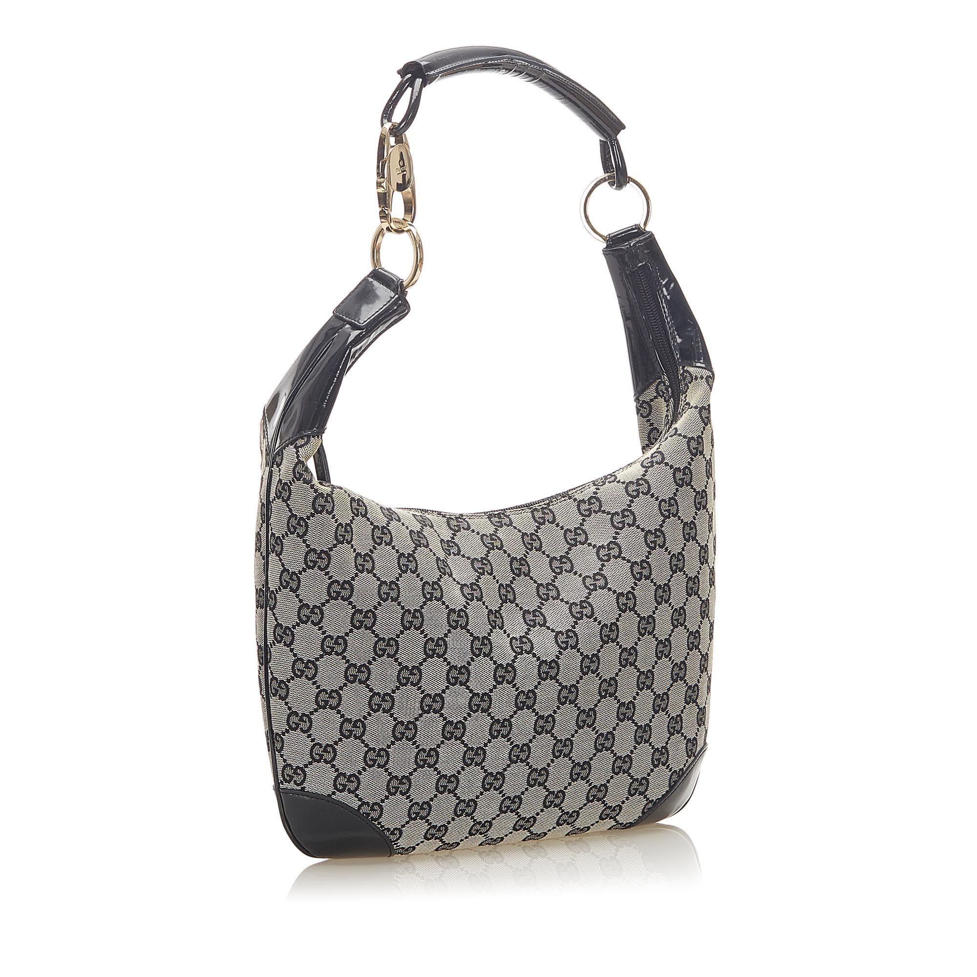 Vintage Gucci GG Canvas Shoulder Bag Gray