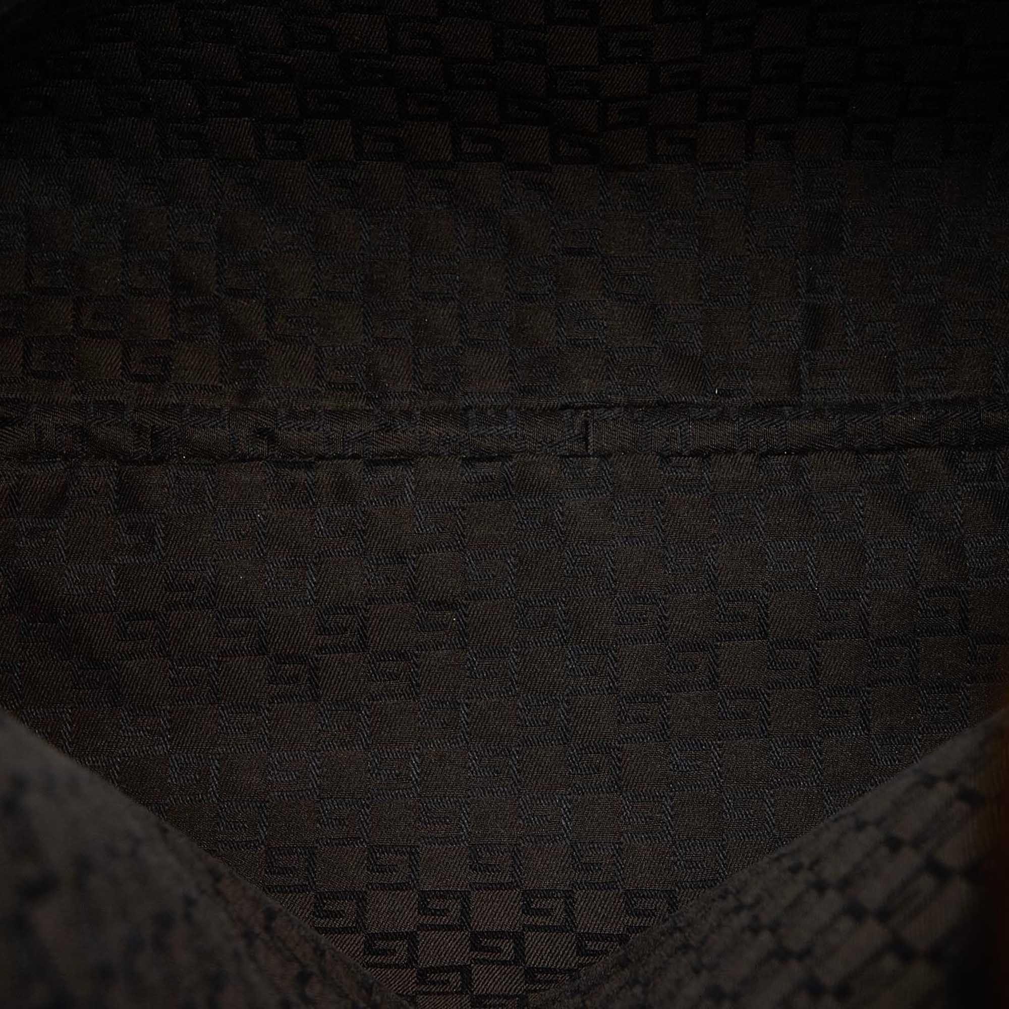 Vintage Gucci Suede Tote Bag Brown