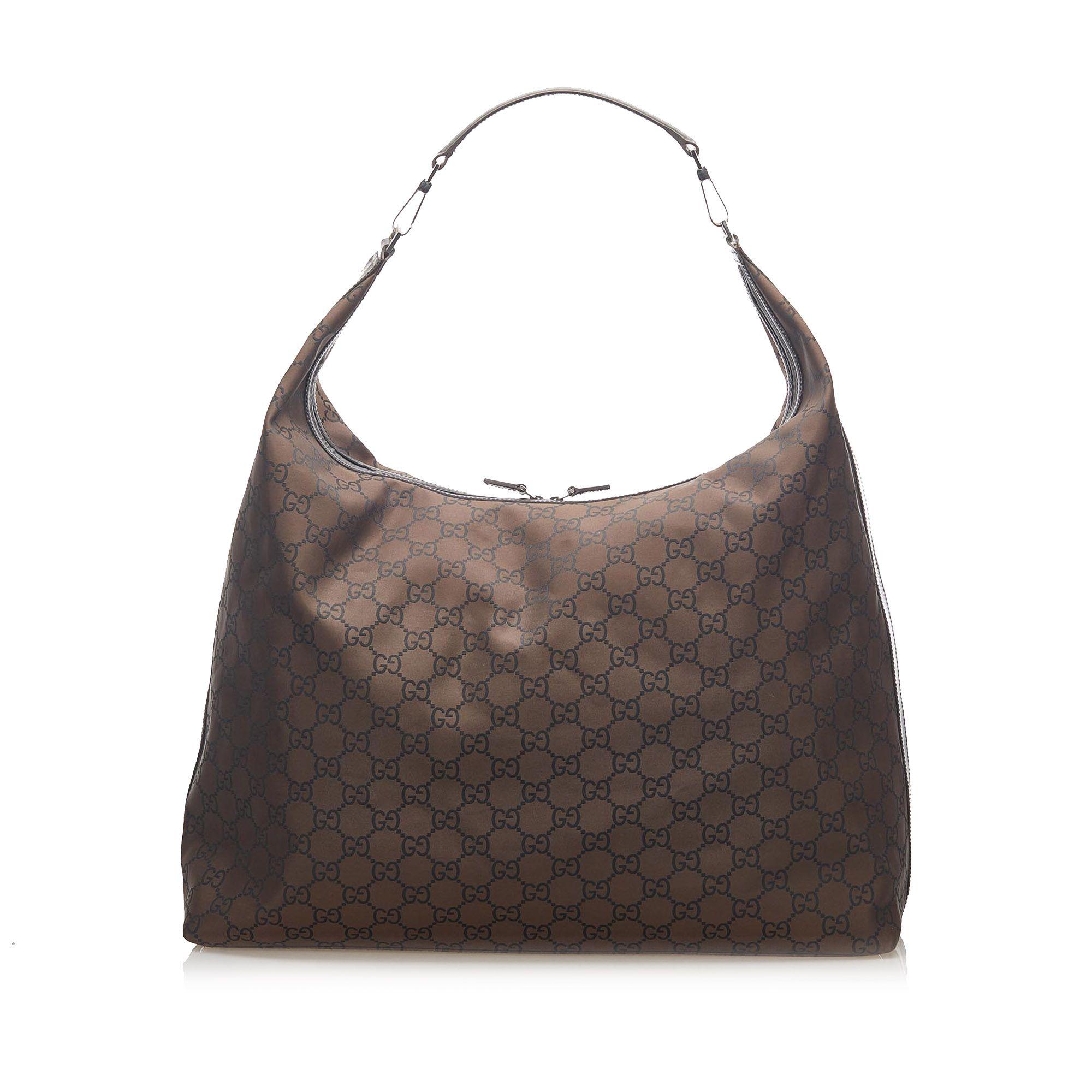 Vintage Gucci GG Nylon Travel Bag Brown