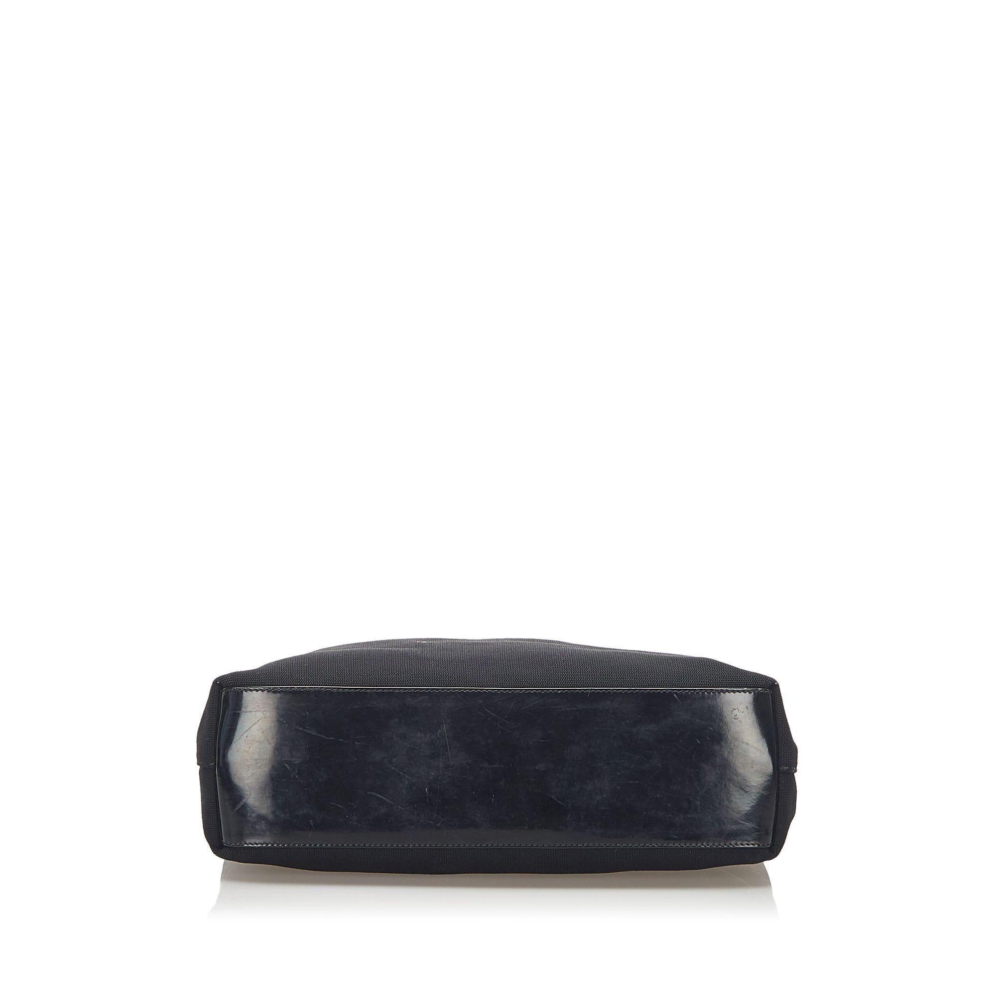 Vintage Gucci Canvas Shoulder Bag Black