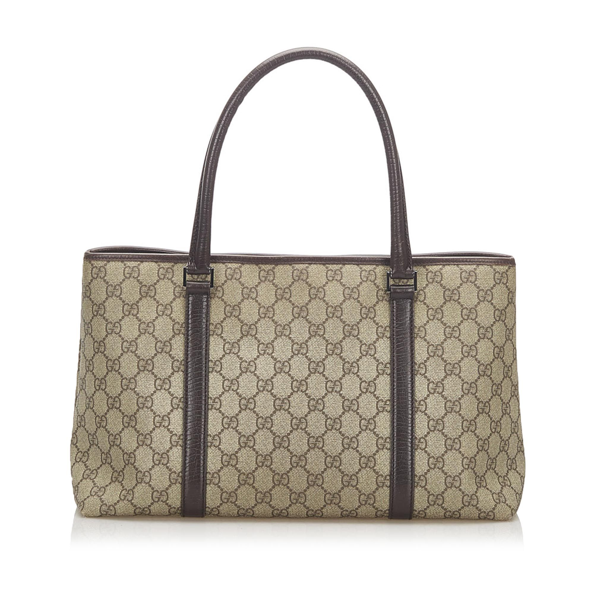 Vintage Gucci GG Supreme Tote Bag Brown