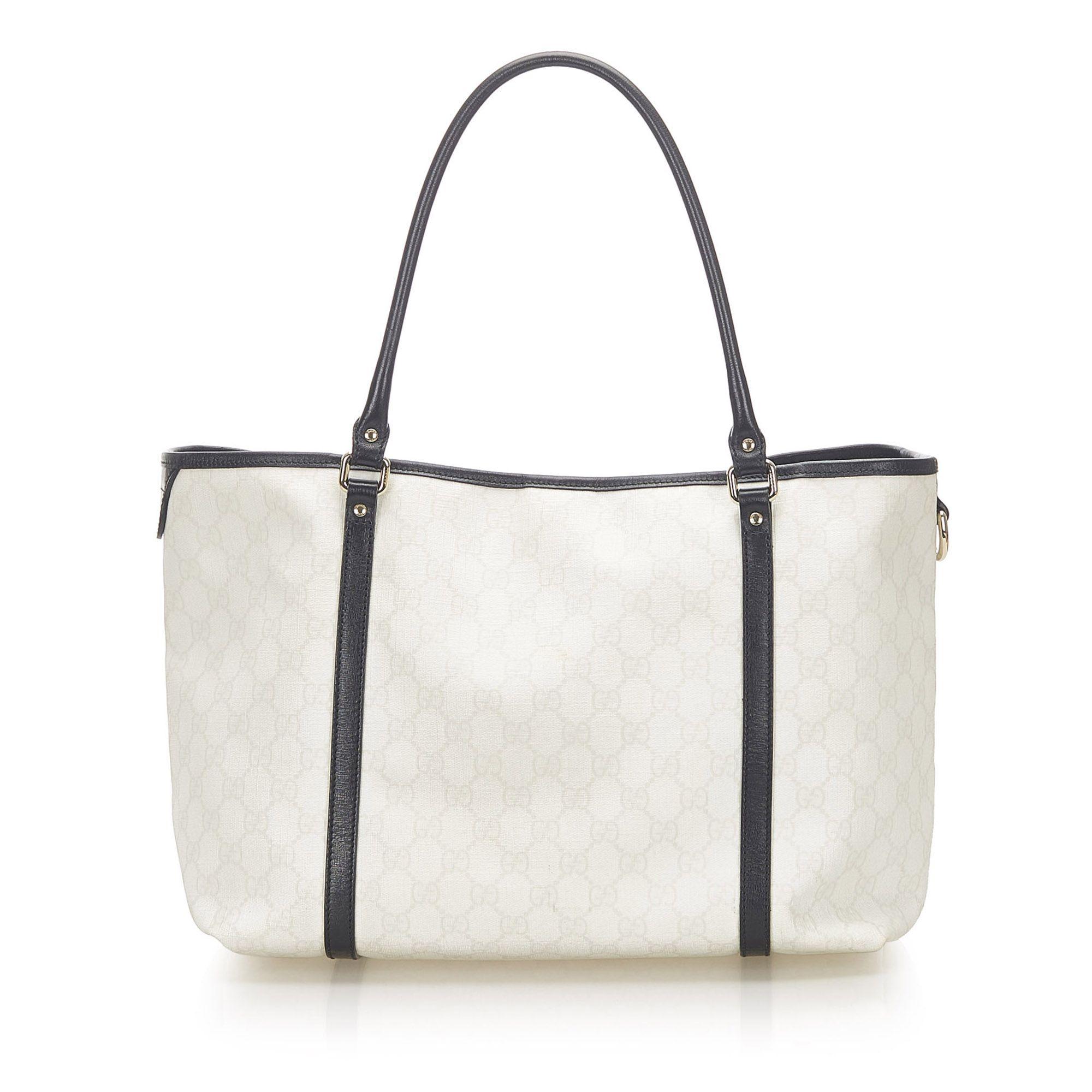Vintage Gucci GG Supreme Joy Tote Bag White