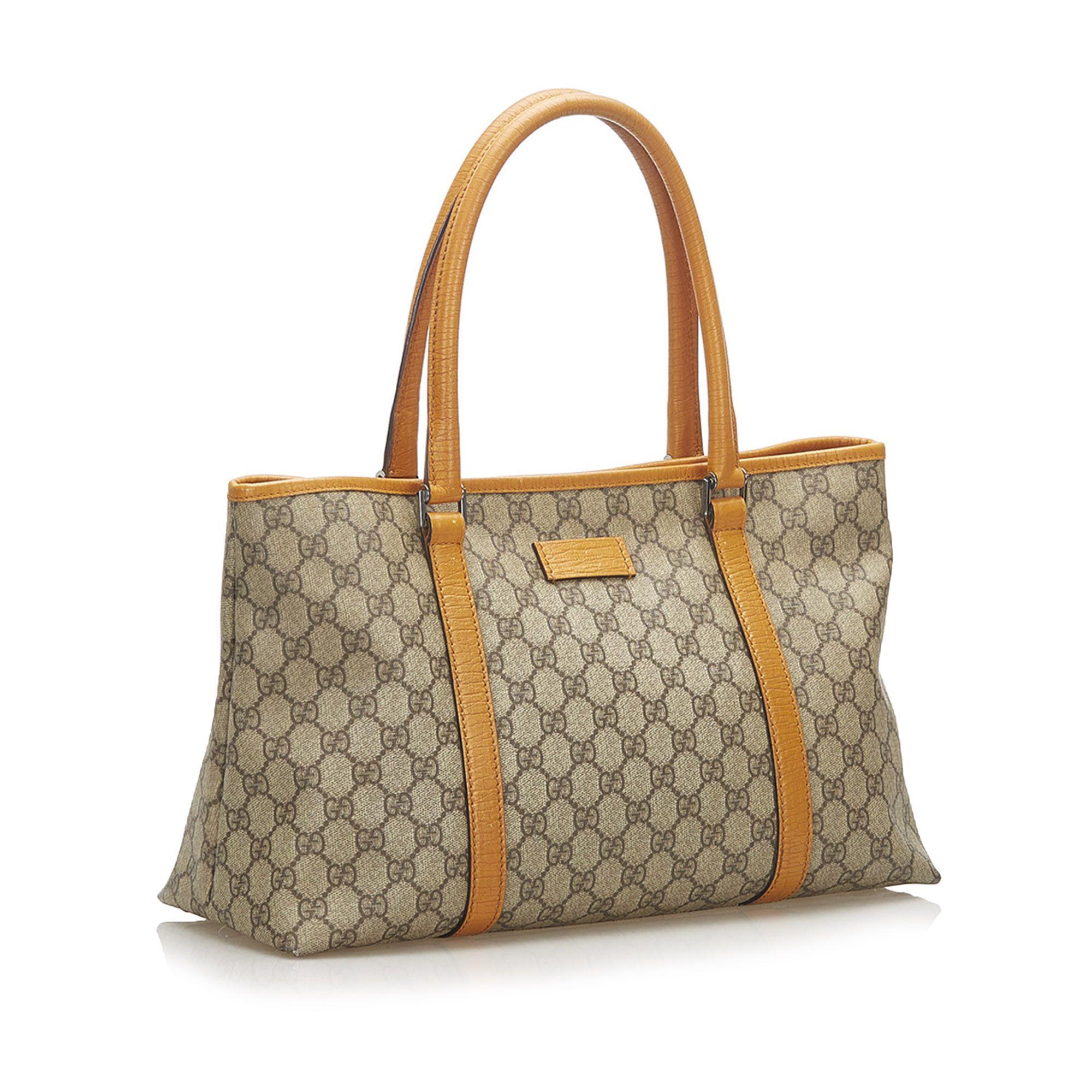 Vintage Gucci GG Supreme Joy Tote Bag Brown