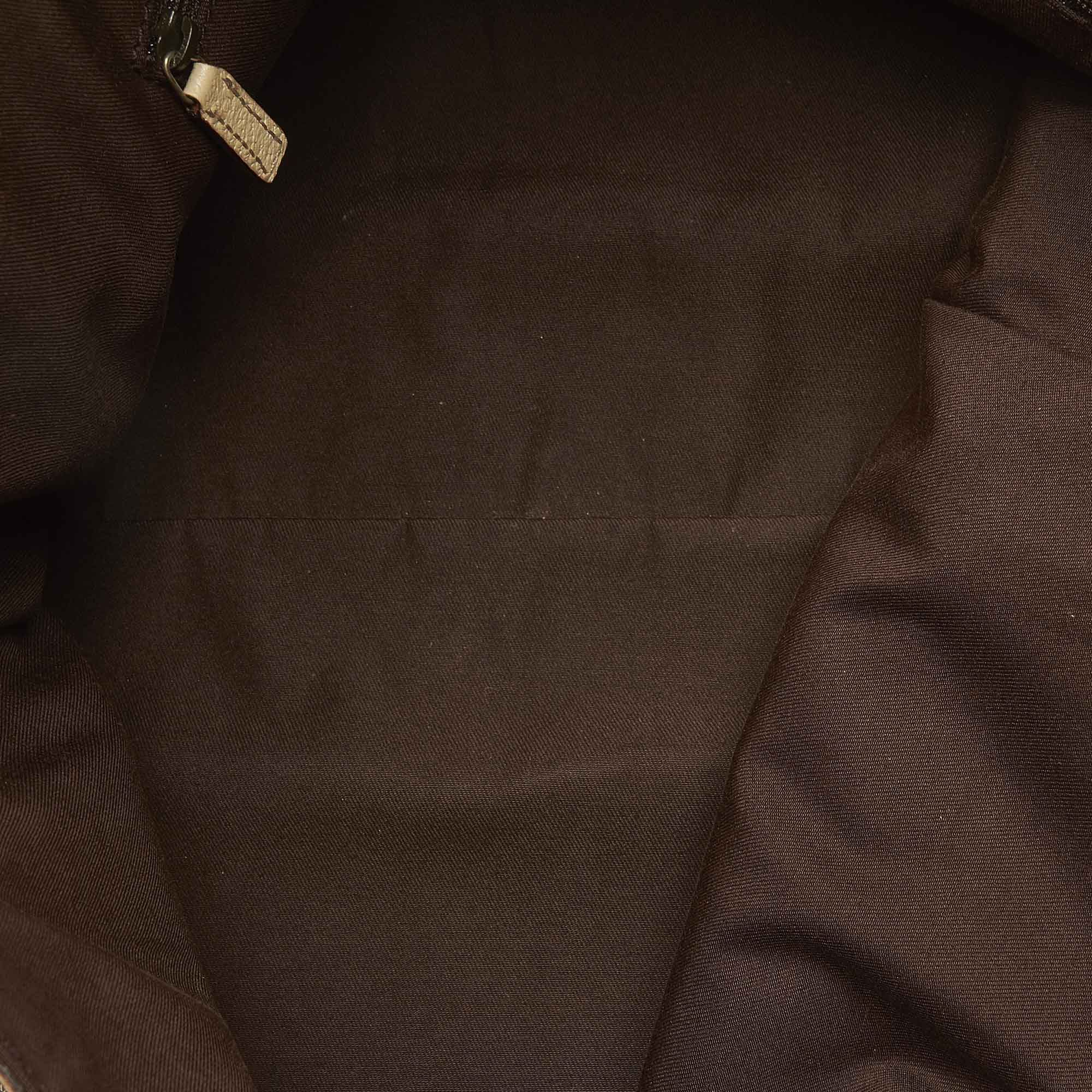 Vintage Gucci GG Canvas Abbey D- Ring Tote Bag Brown