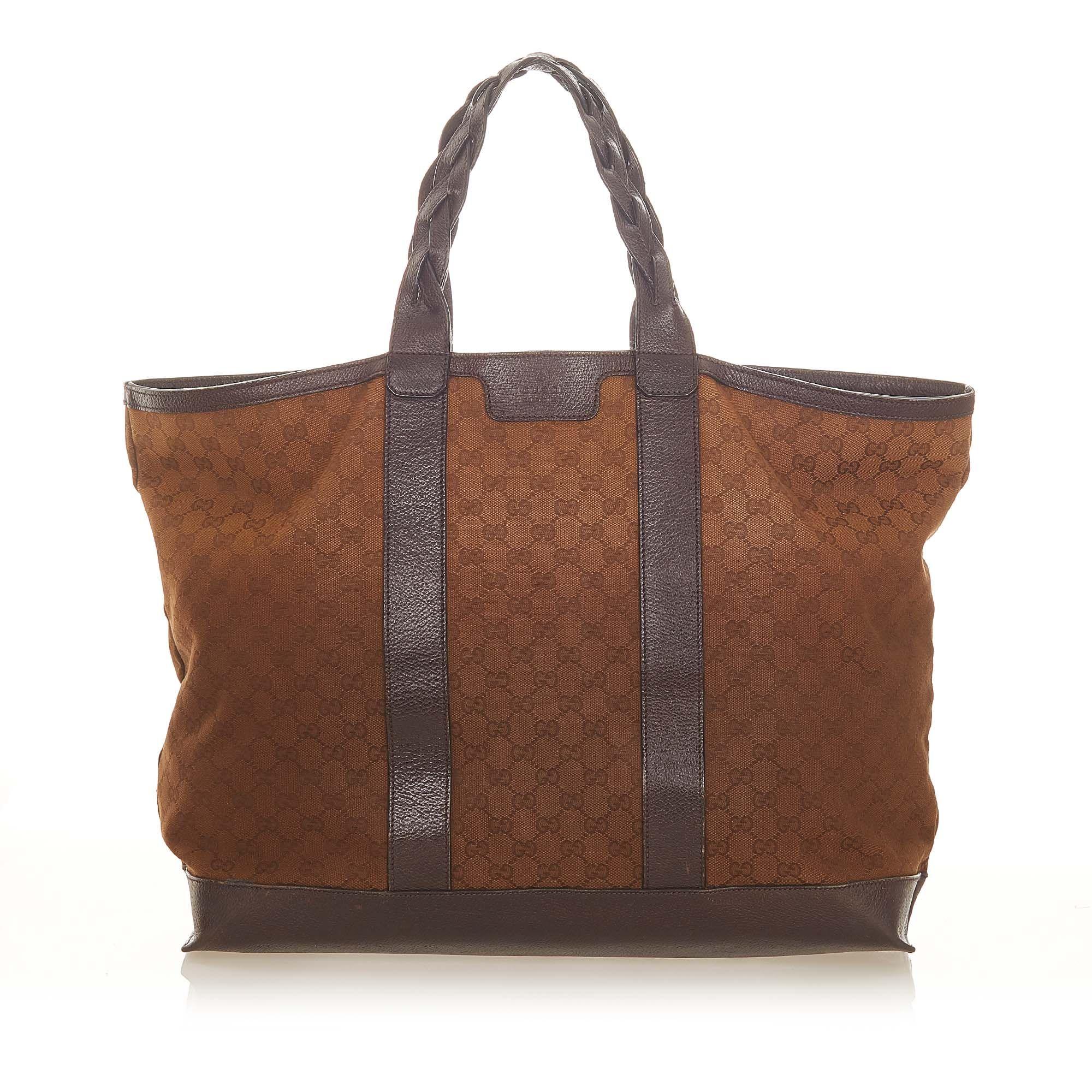 Vintage Gucci GG Canvas Duffle Bag Brown