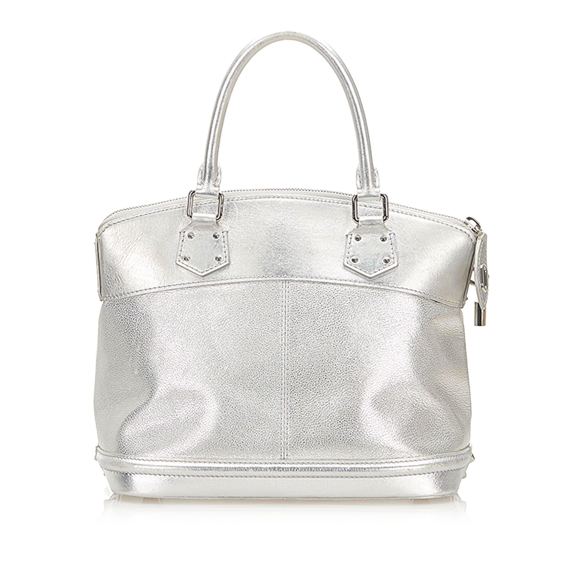 Vintage Louis Vuitton Suhali Lockit PM Silver