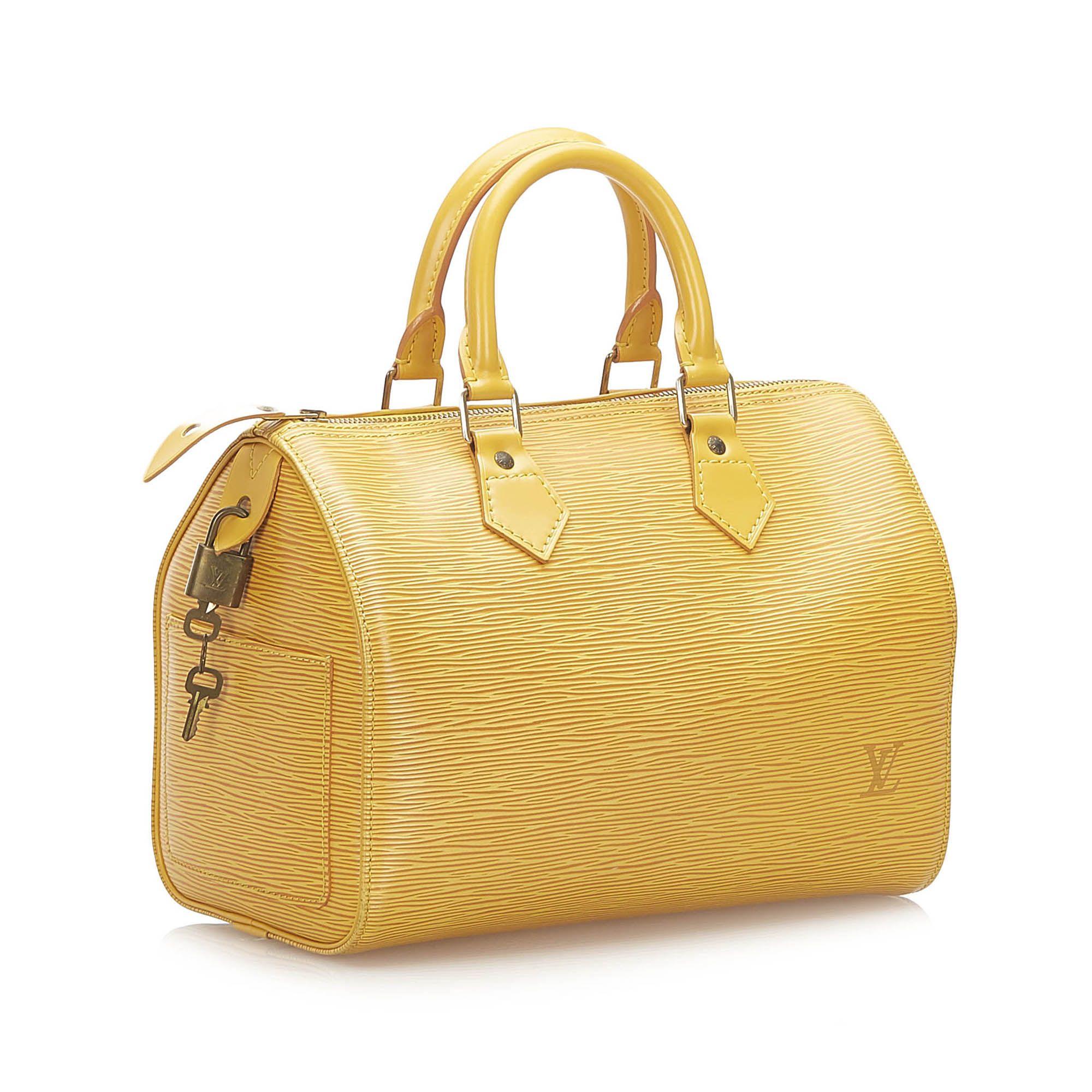 Vintage Louis Vuitton Epi Speedy 30 Yellow