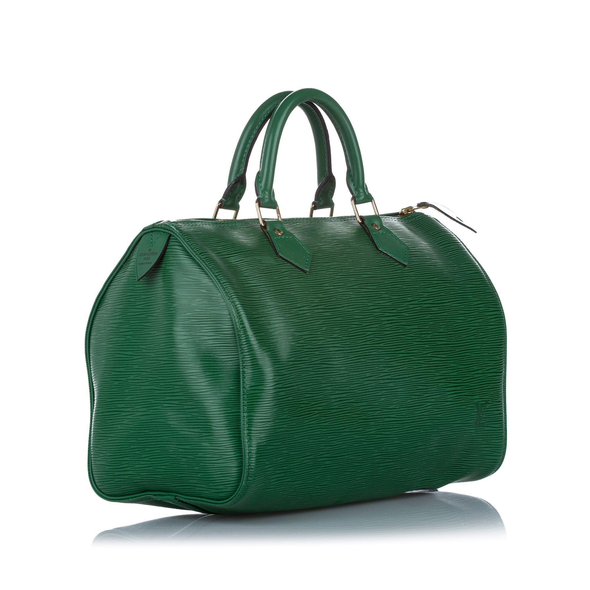 Vintage Louis Vuitton Epi Speedy 30 Green