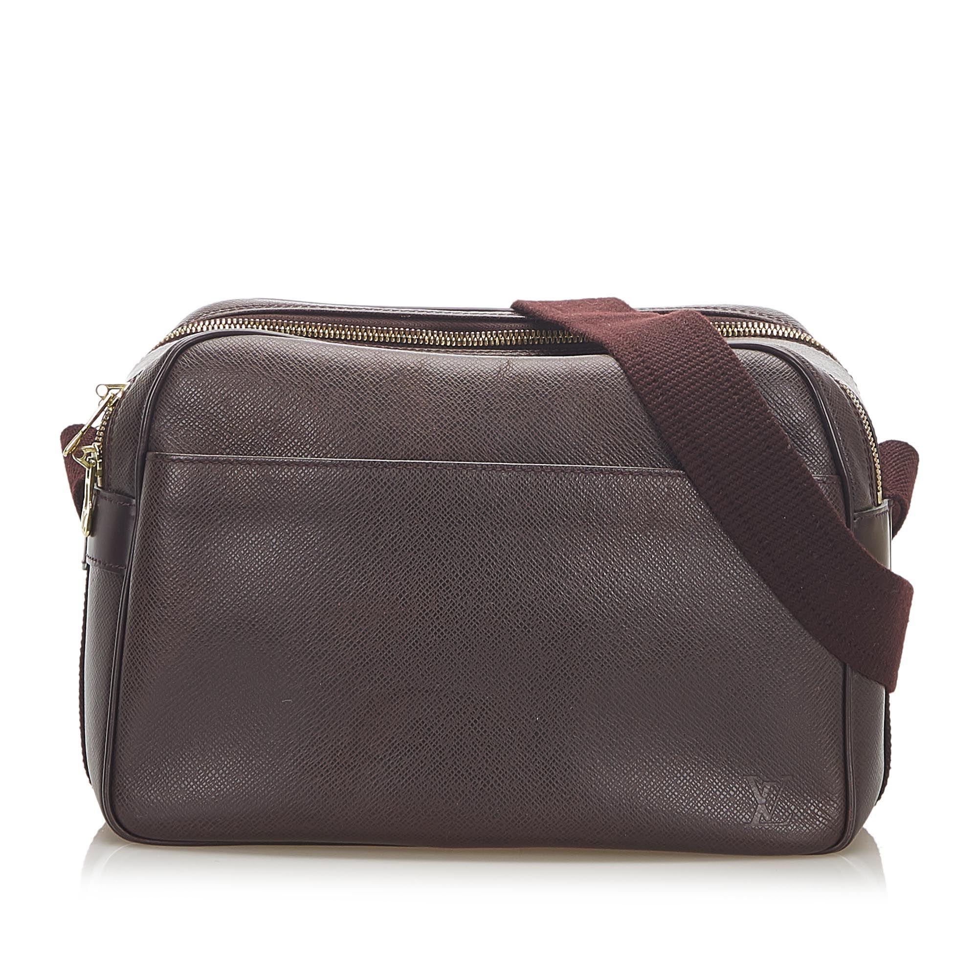 Vintage Louis Vuitton Taiga Reporter PM Brown