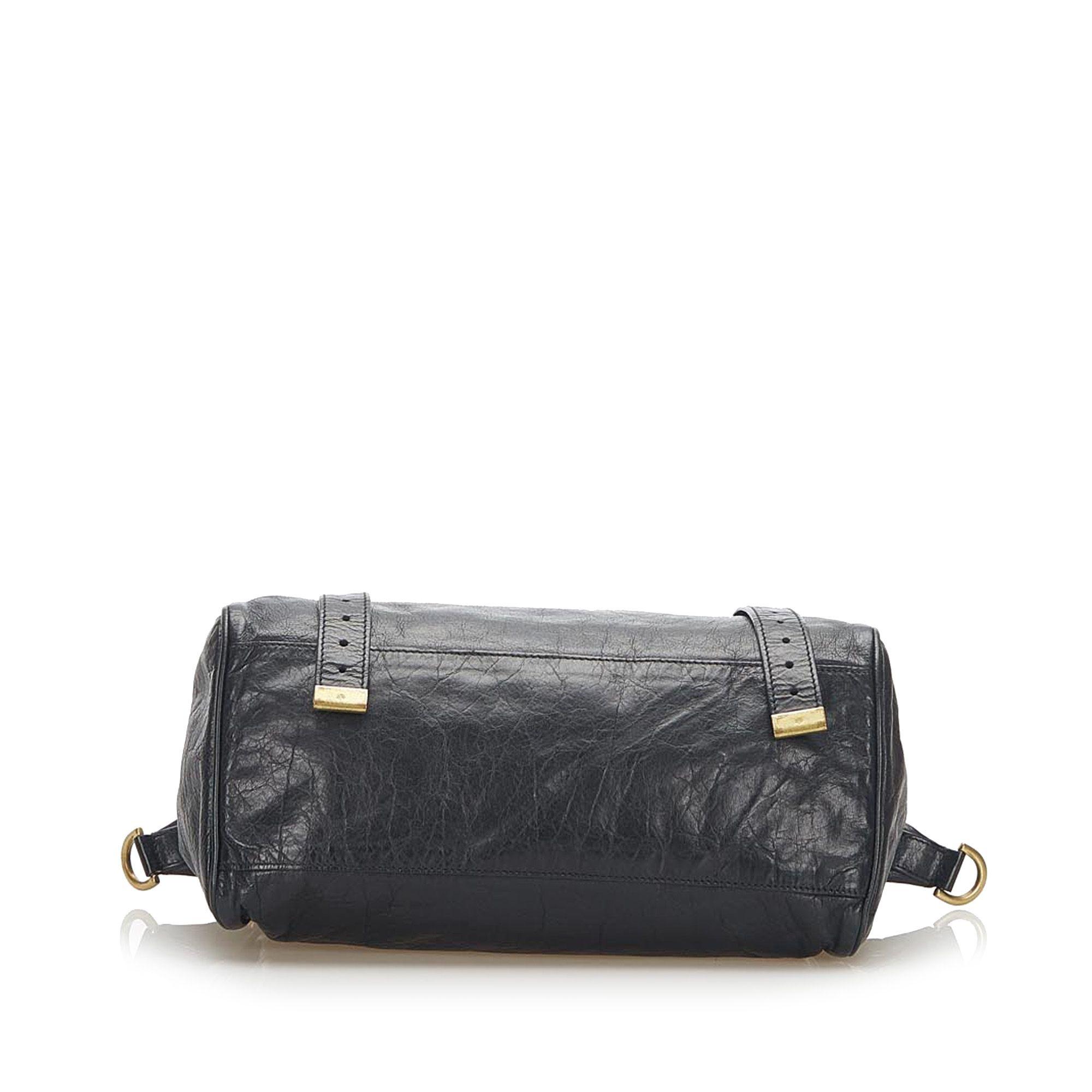 Vintage Mulberry Alexa Leather Satchel Black