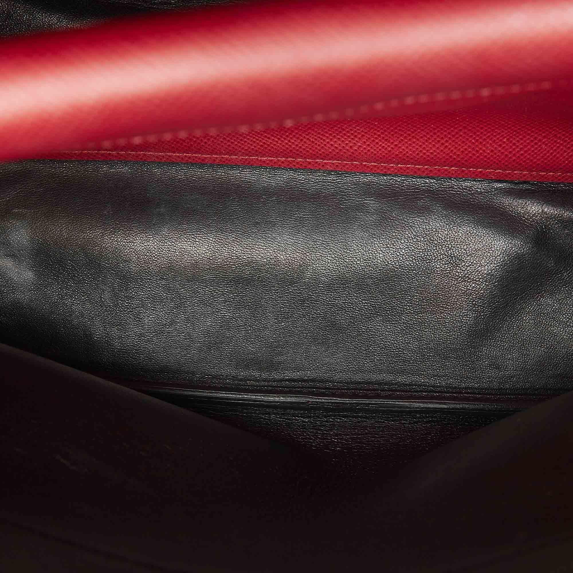 Vintage Prada Saffiano Handbag Red