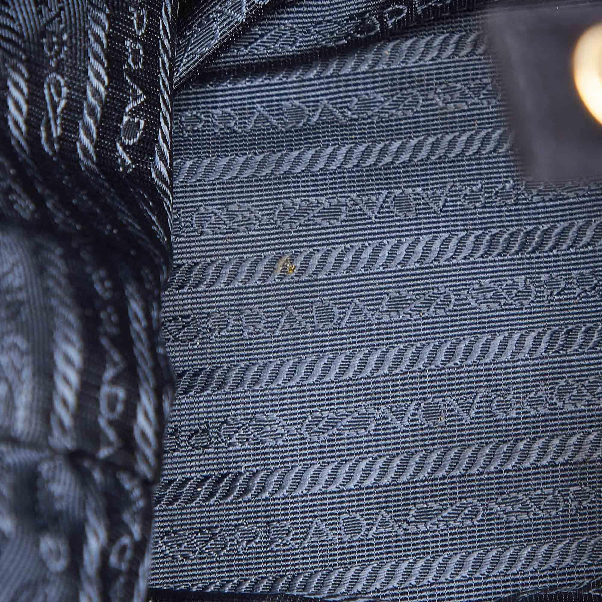 Vintage Prada Suede Chain Shoulder Bag Black