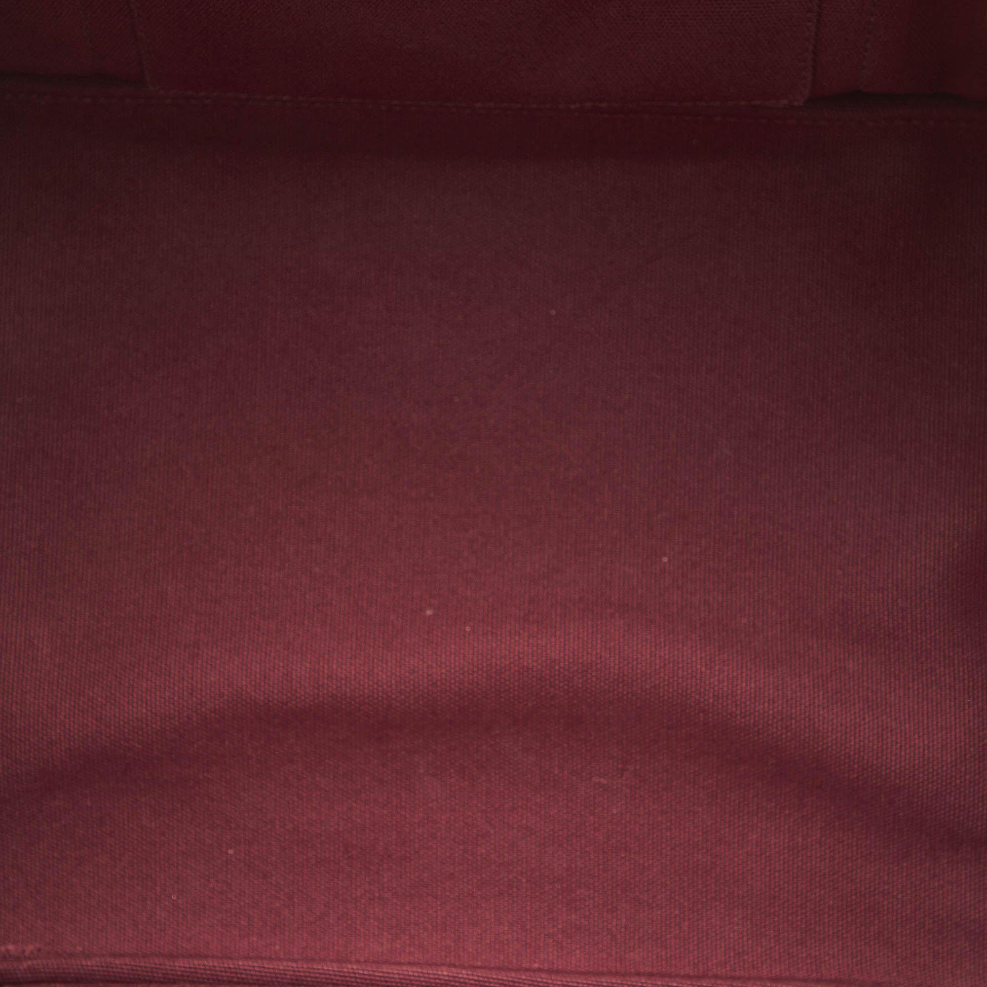 Vintage Prada Canapa Logo Canvas Satchel Red