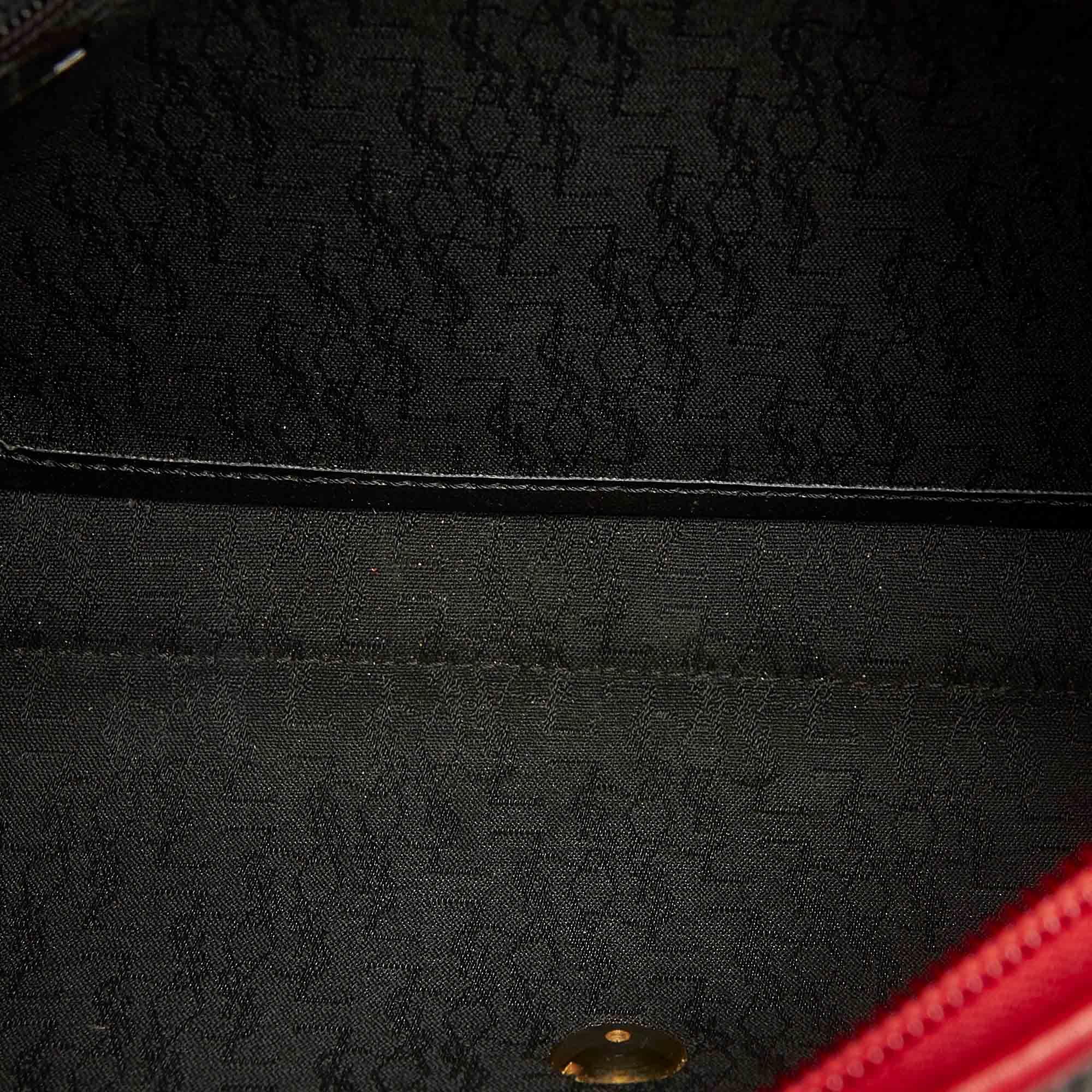 Vintage YSL Canvas Clutch Bag Gray