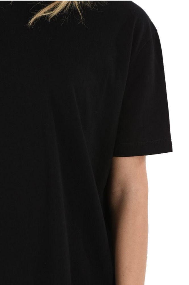 MAISON MARGIELA WOMEN'S S32NC0531S23195900 BLACK COTTON T-SHIRT