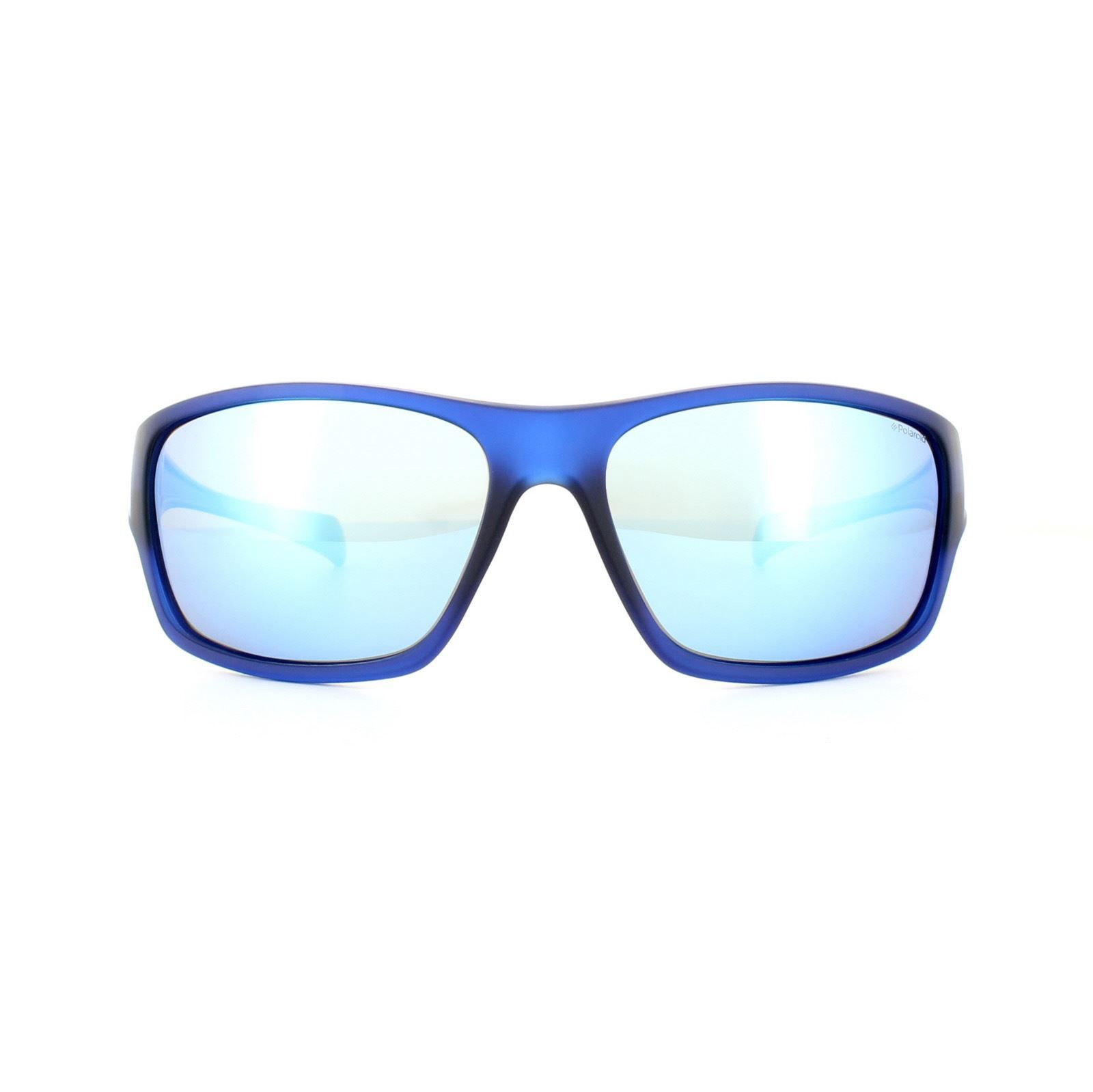 Polaroid Sport Sunglasses PLD 7016/S PJP 5X Blue Grey Blue Mirror Polarized
