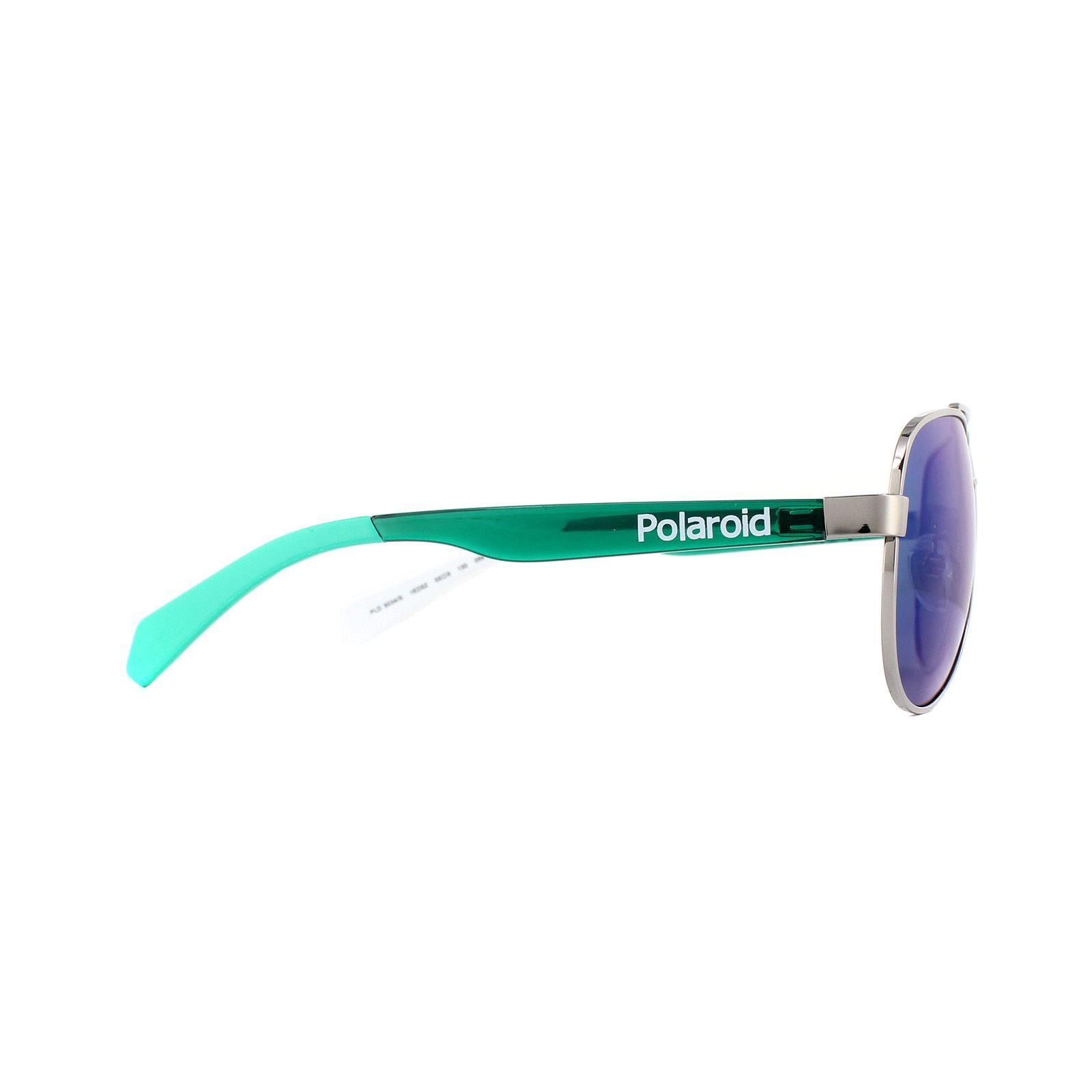 Polaroid Kids Sunglasses PLD 8034/S 1ED 5Z Grey Green Green Mirror Polarized