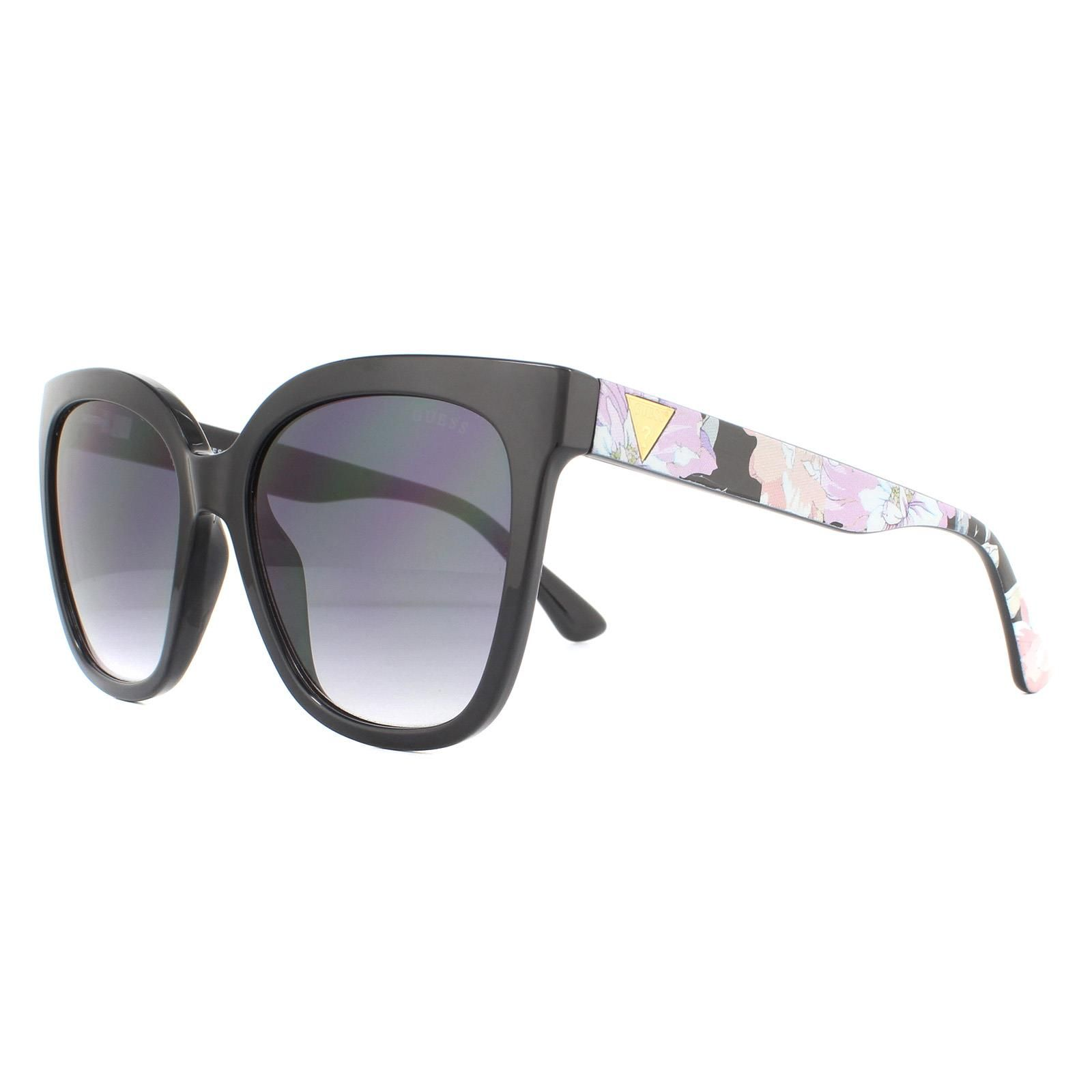 Guess Sunglasses GU7612 05B Black Pattern Grey Gradient