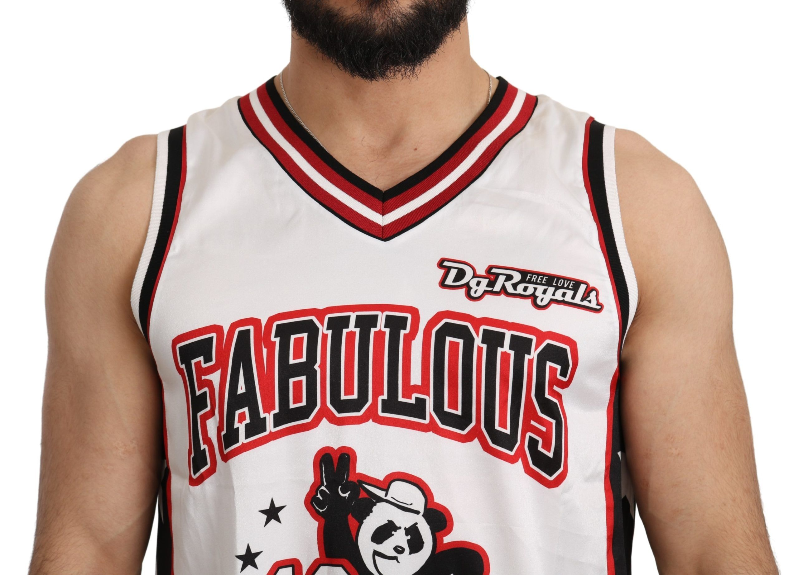 Dolce & Gabbana White Dg Royals Tank Top T-Shirt