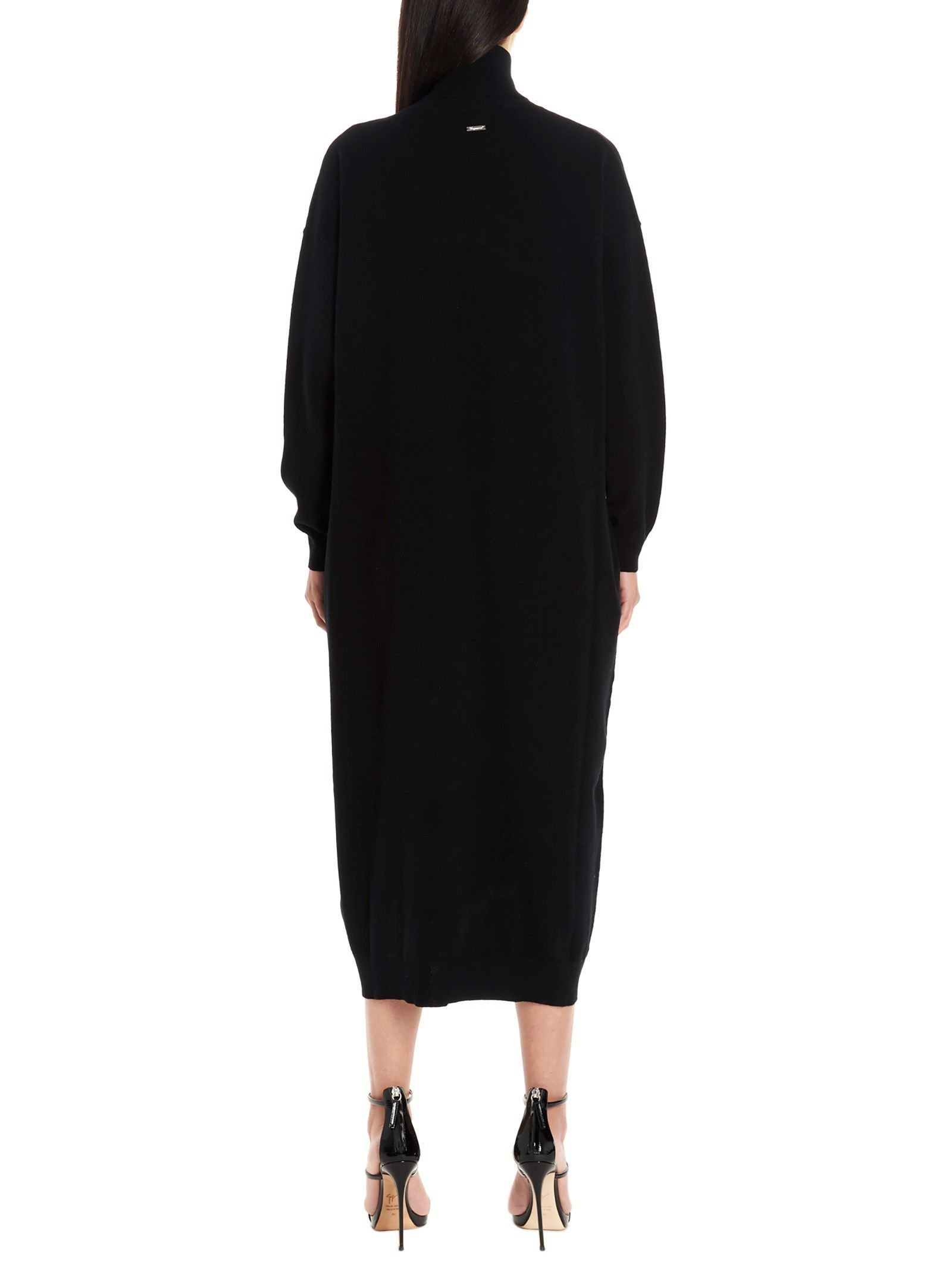 DSQUARED2 WOMEN'S S75CV0102S16894900 BLACK WOOL DRESS