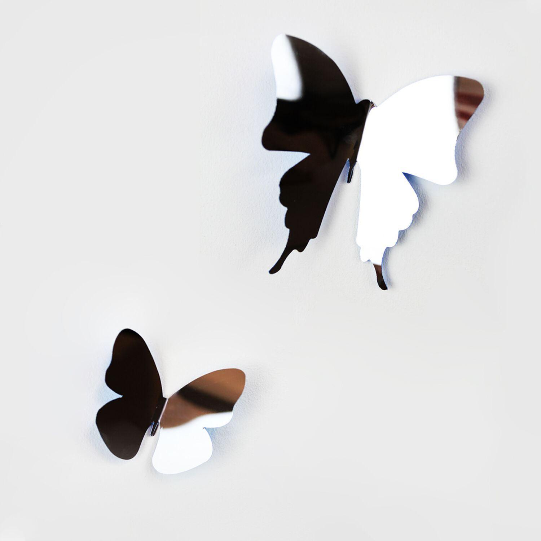 Walplus 3D Butterflies Mirror Wall Stickers, Self Adhesive, DIY, Decoration, Kids Room, Nursery, Children's room, Boy, Girl