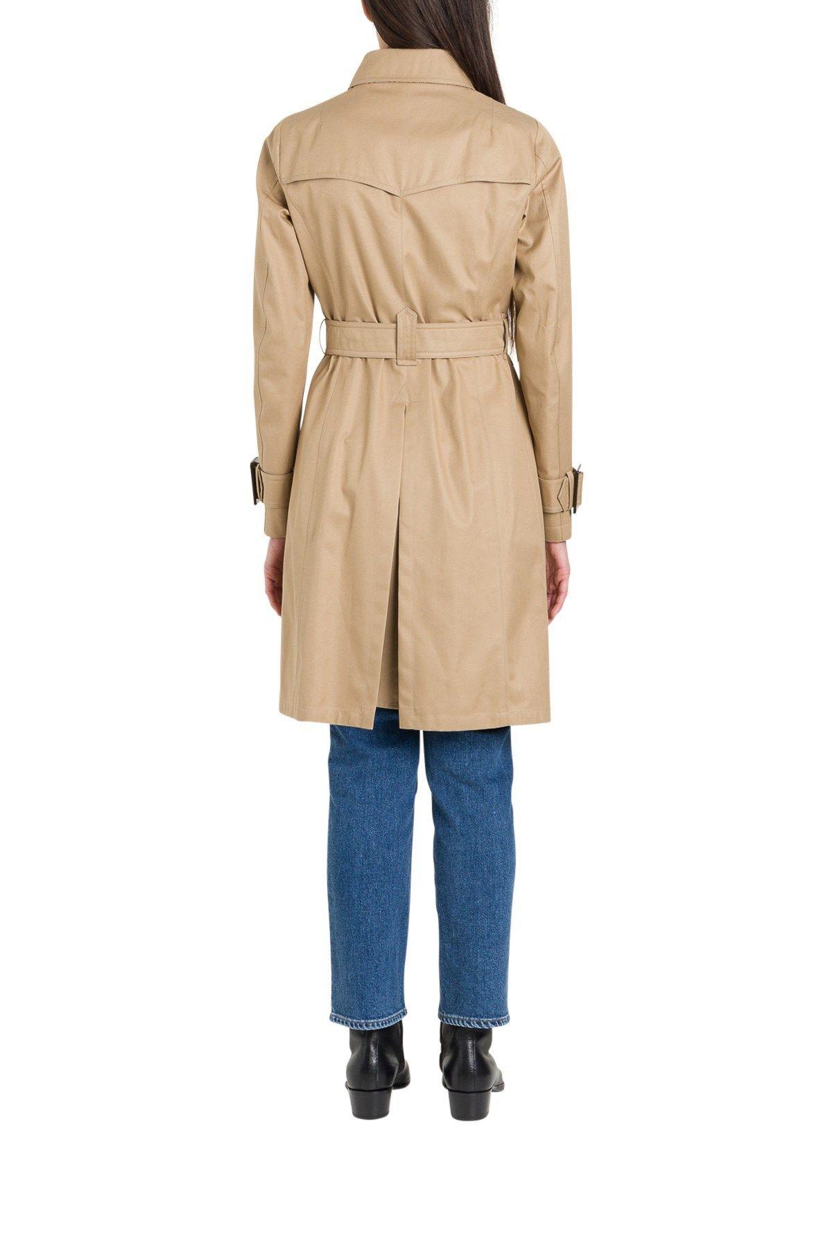 HERNO WOMEN'S IM0118D132182000 BEIGE COTTON TRENCH COAT