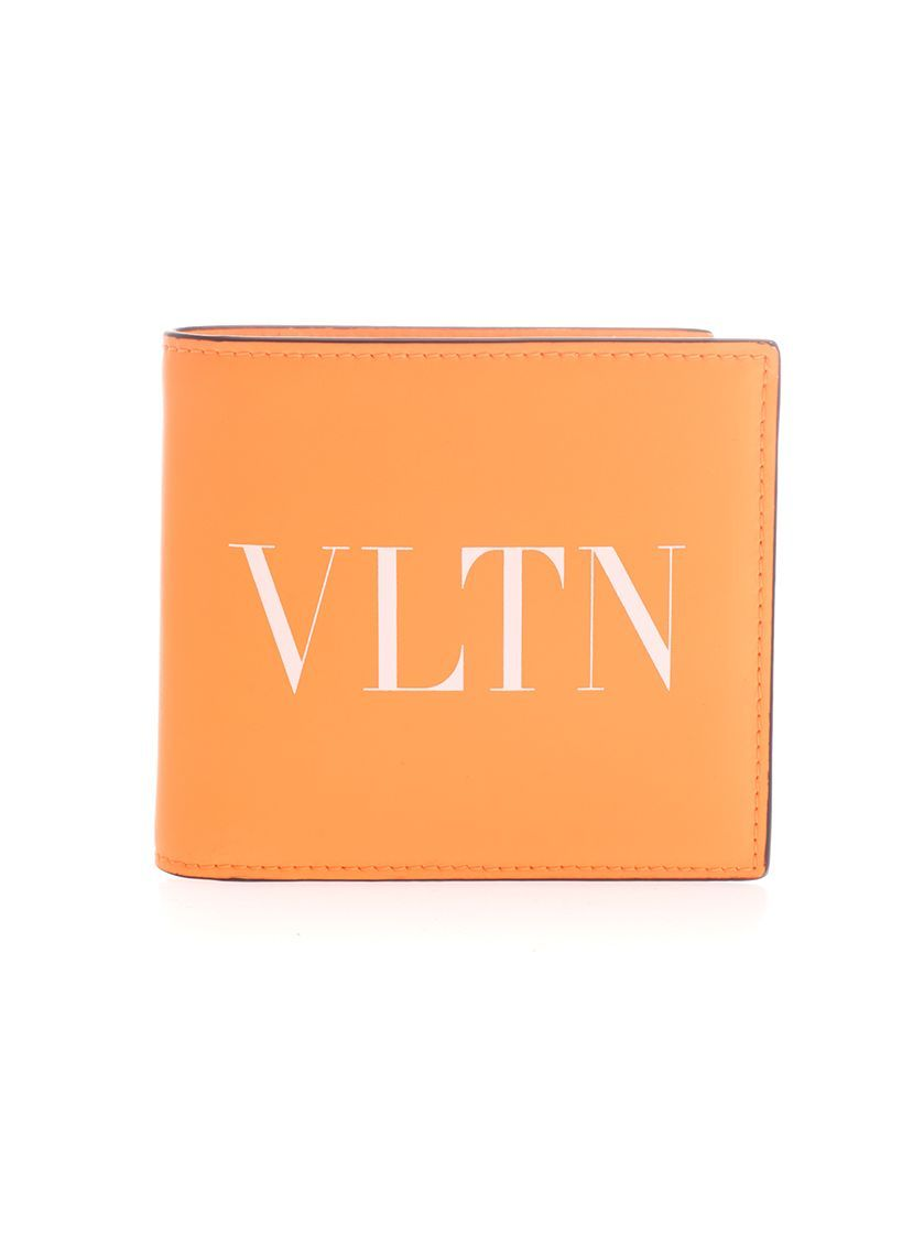 VALENTINO GARAVANI MEN'S TY0P0654CFWCK0 ORANGE LEATHER WALLET