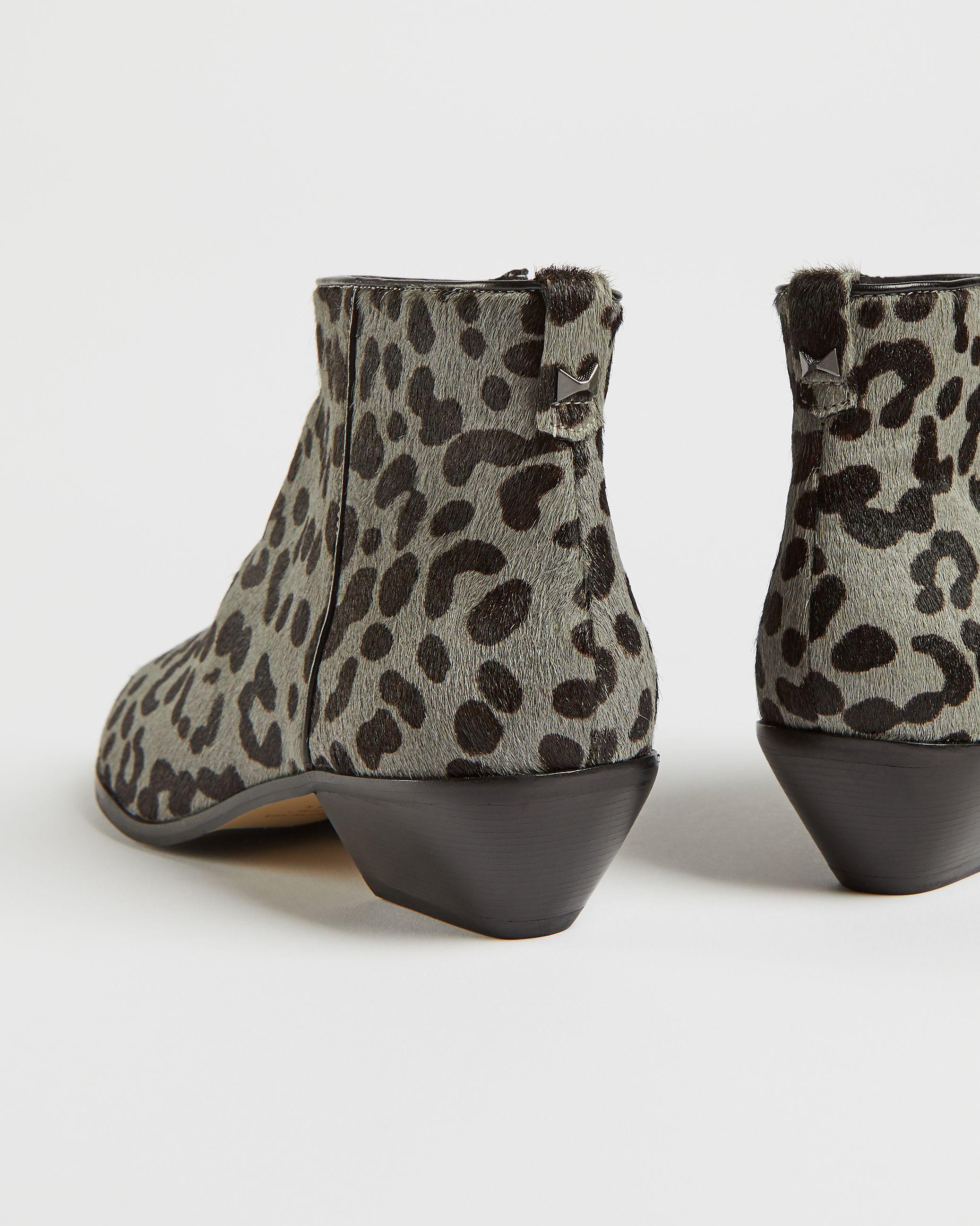 Ted Baker Loriina Exotic Skin Boot, Grey