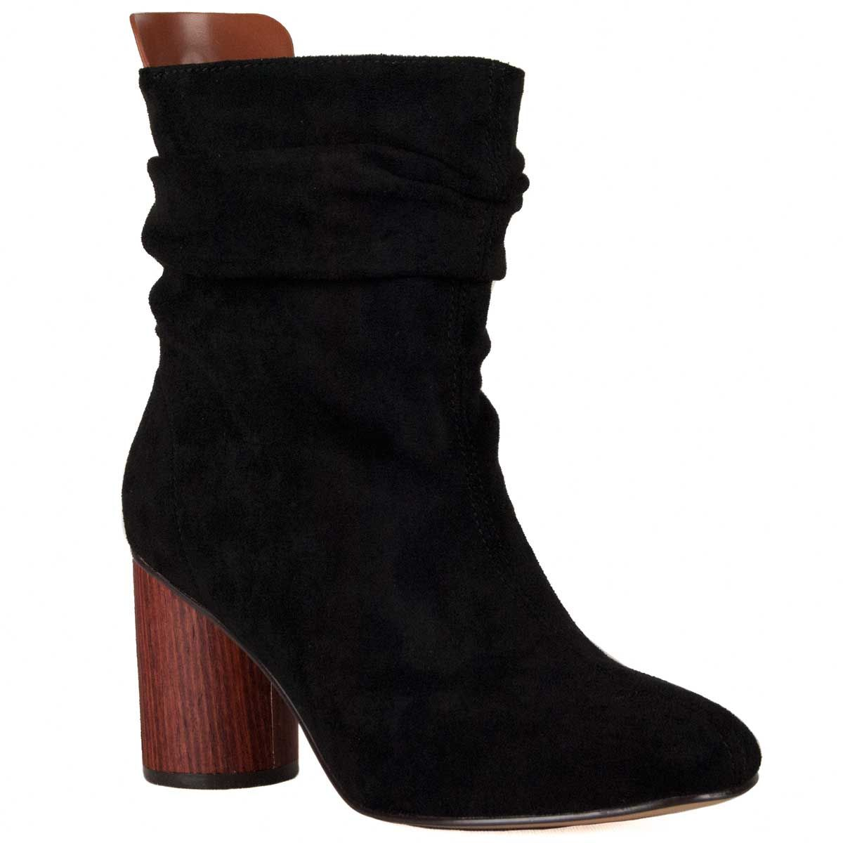 Montevita Ruched Heeled Boot in Black