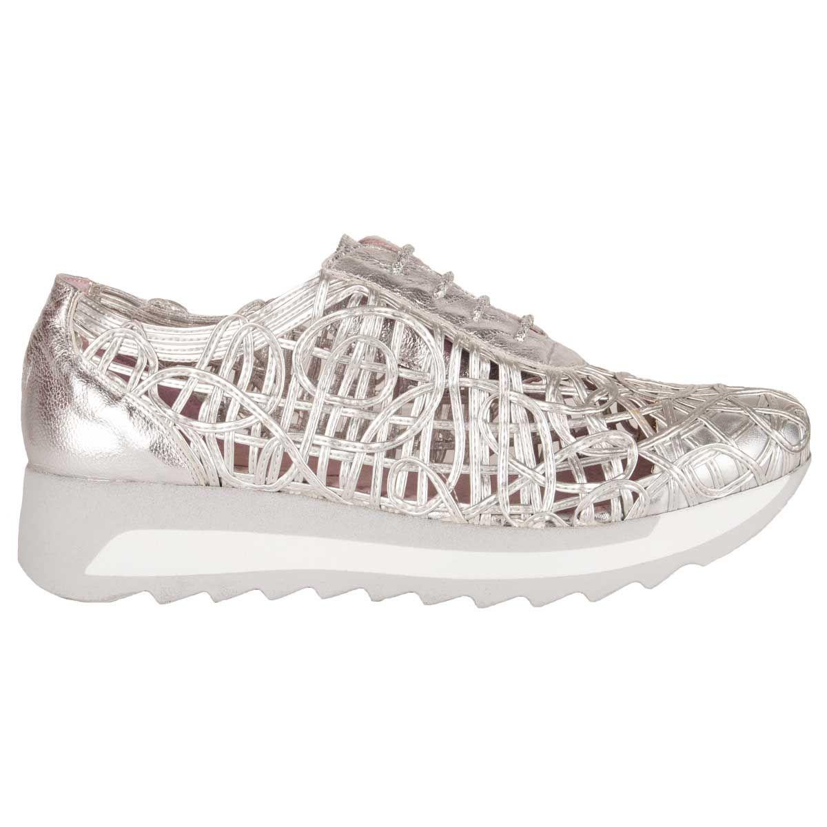 Purapiel Woven Sneaker in Silver