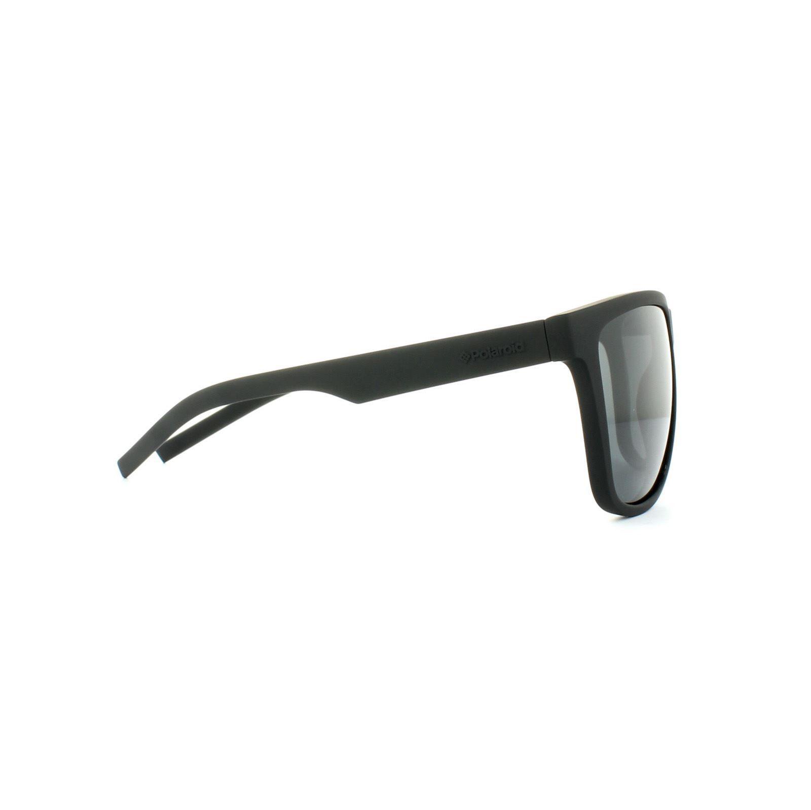 Polaroid Sport Sunglasses PLD 6014/S YYV Y2 Rubber Black Grey Polarized