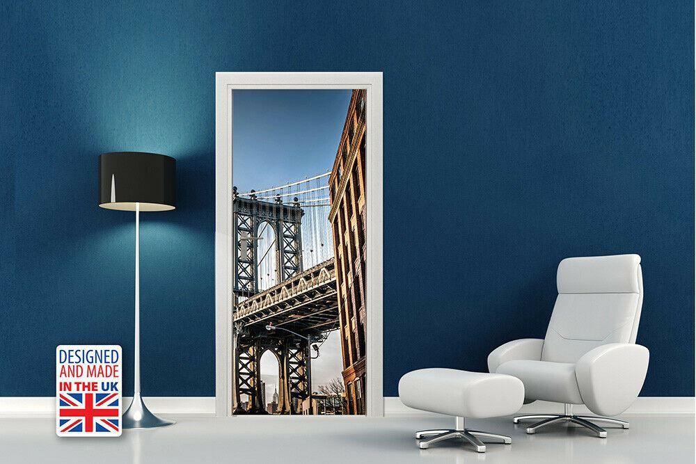 Manhattan Bridge Self-Adhesive Door Mural Sticker For All Europe Size 90CmX200CM