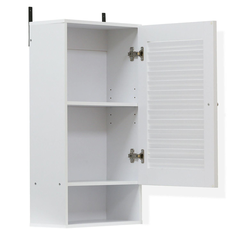 Furinno Indo Wide Wall Cabinet, White