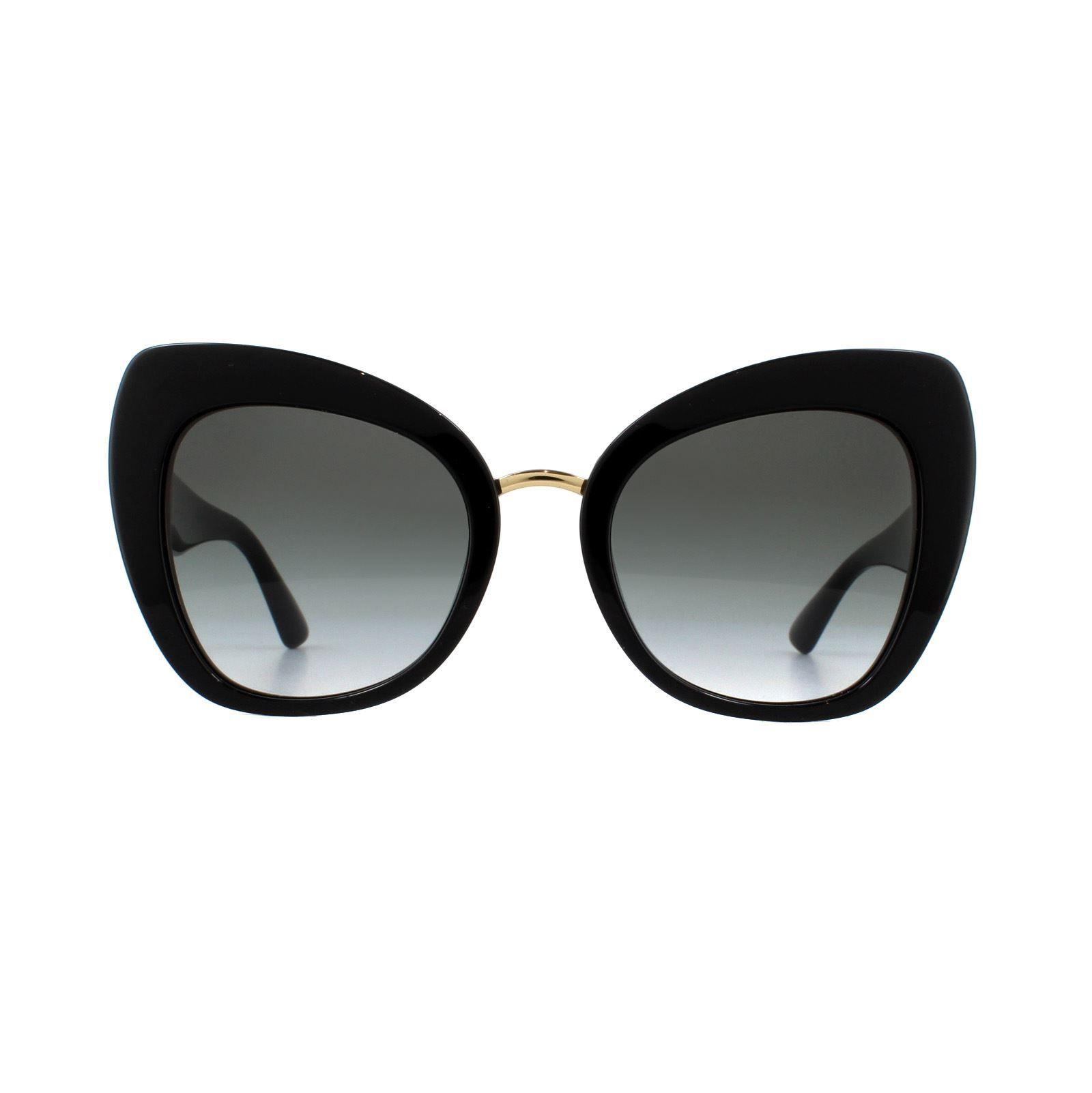 Dolce & Gabbana Sunglasses DG4319 501/8G Black Grey Gradient