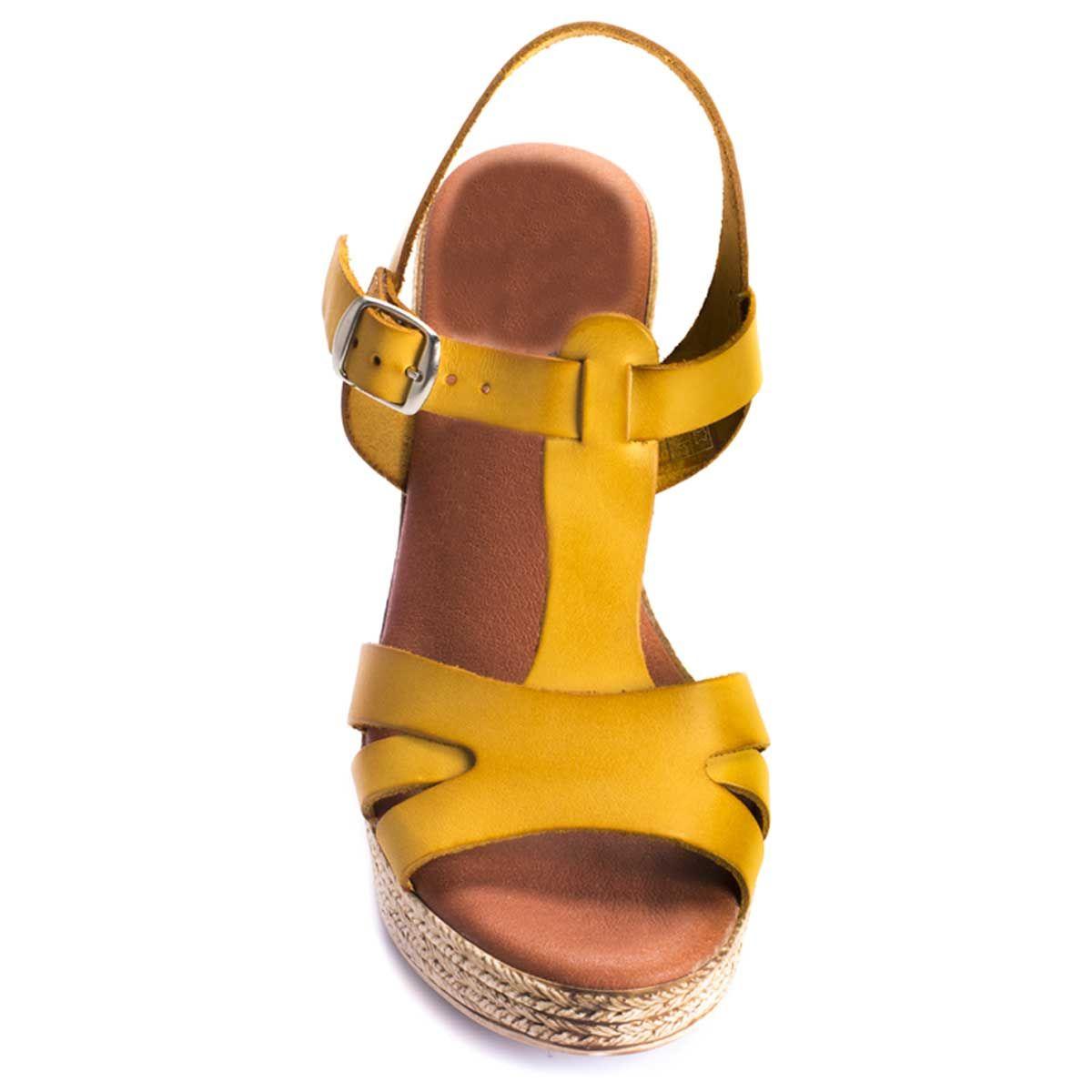 Montevita Platform Sandal in Yellow