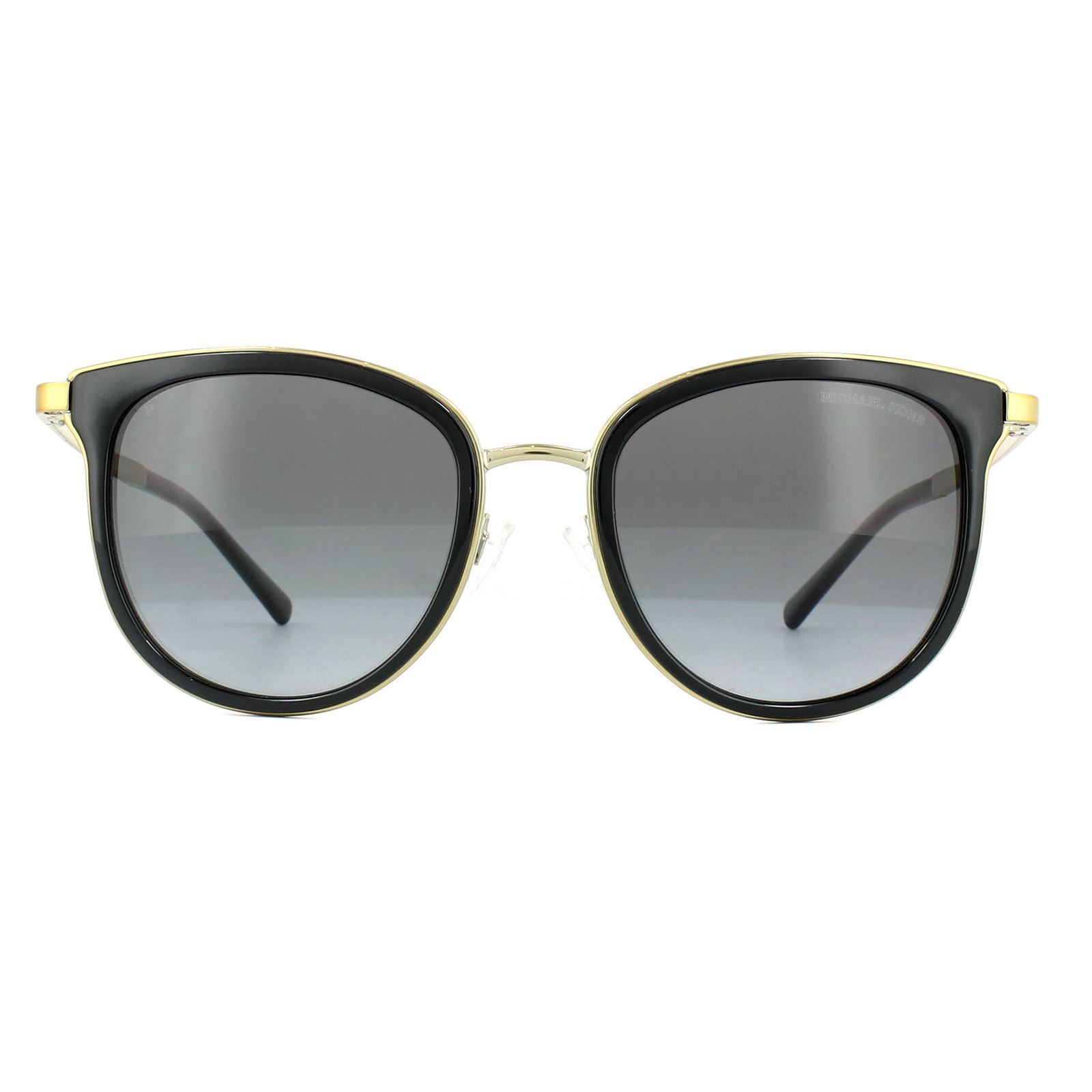 Michael Kors Sunglasses Adrianna 1 1010 1100T3 Black Gold Grey Gradient Polarized
