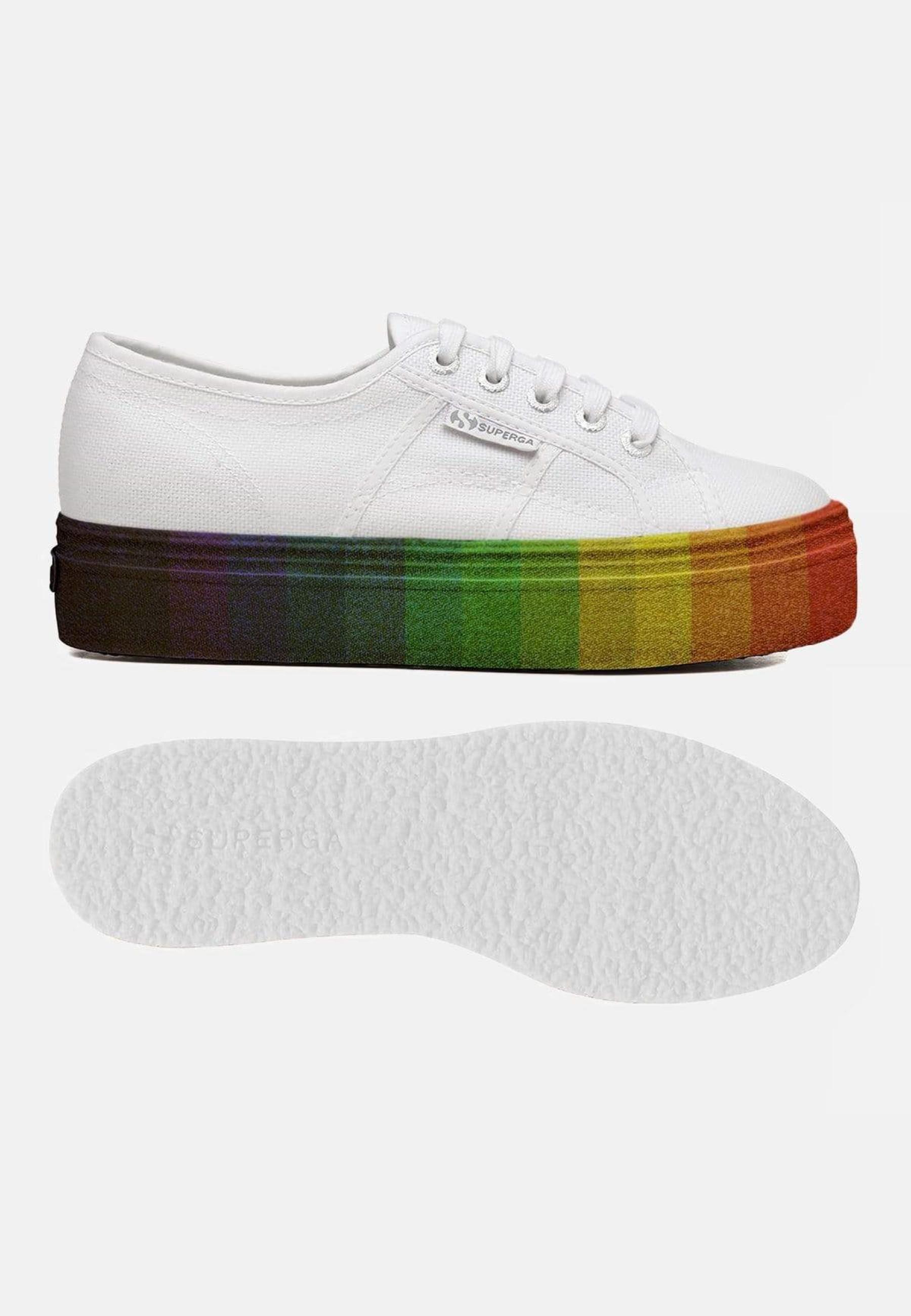 Superga 2790 Cot W Multicolour Glitter White Multicolour