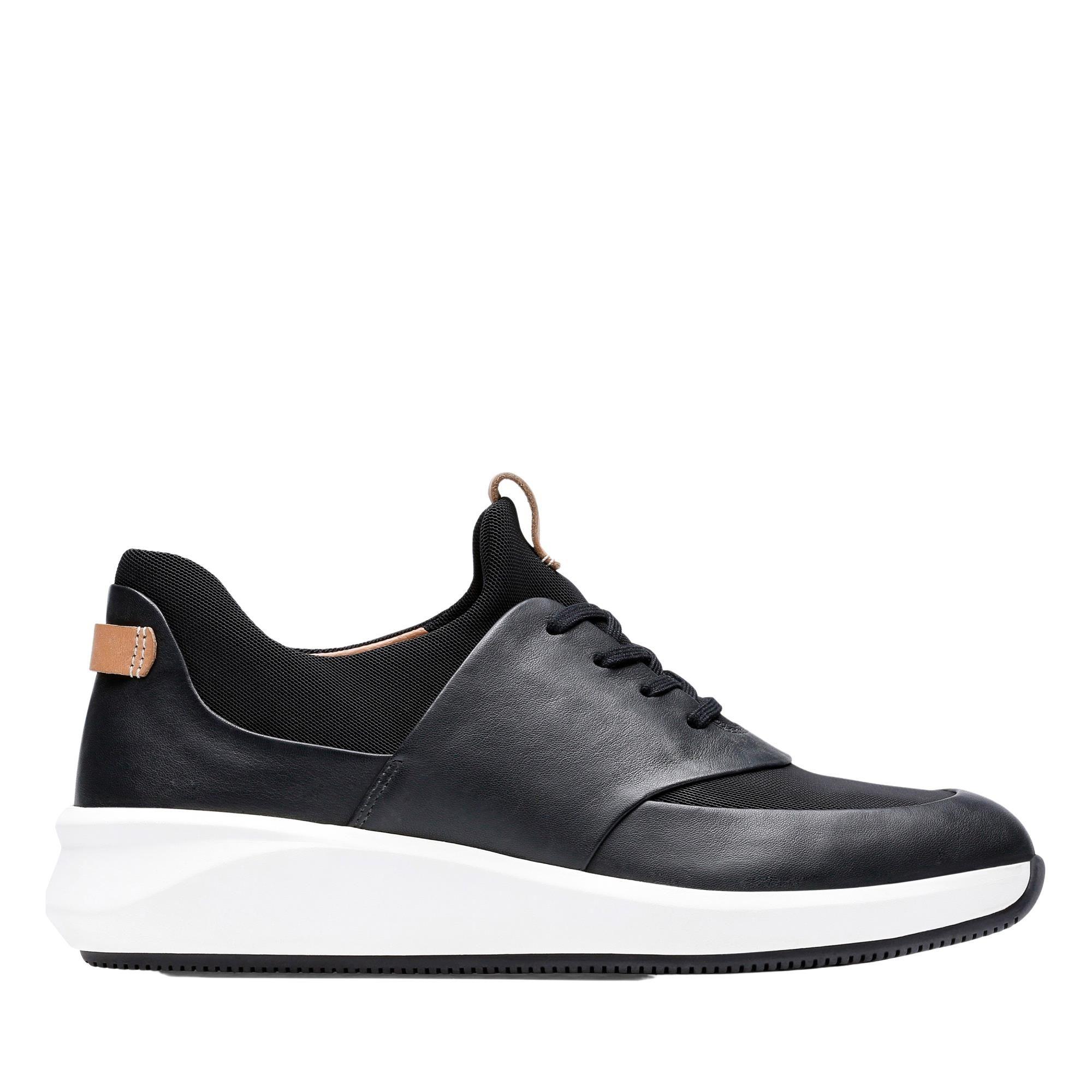 Clarks Un Rio Lace 26140395 Black Leather