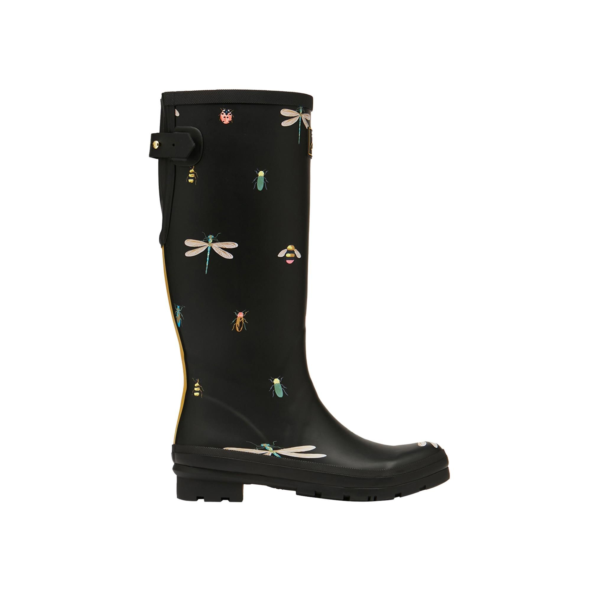 Joules Welly Print 212644 Black Bugs