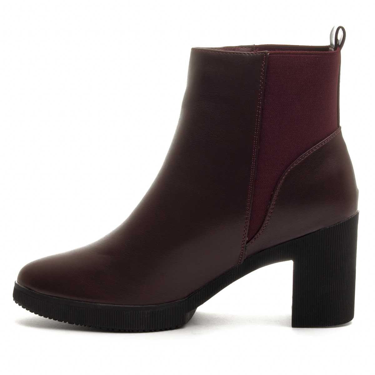 Montevita Heeled Ankle Boot in Bordo