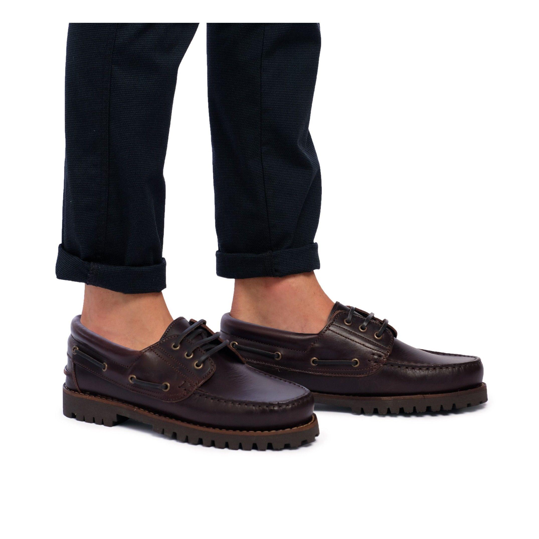 Castellanisimos Classic Leather Boat Shoes Men Brown