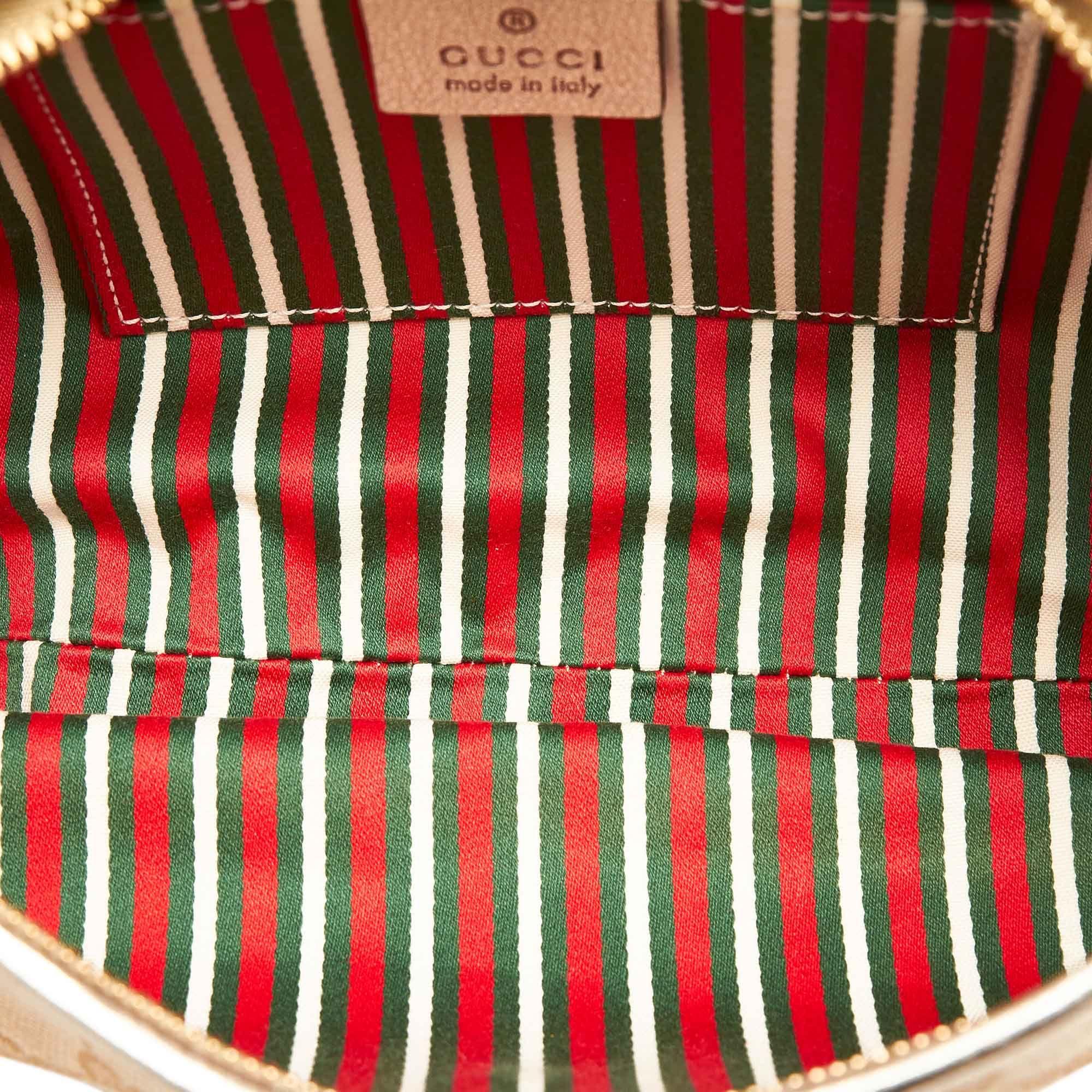 Vintage Gucci GG Canvas D-Ring Abbey Baguette Brown