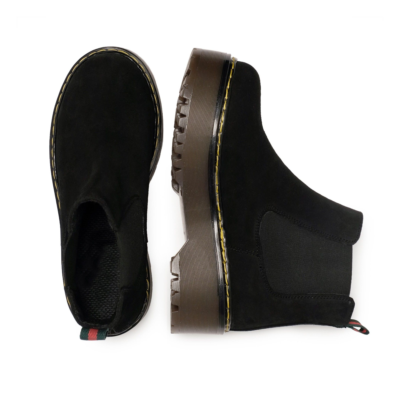 Maria Barcelo Chelsea Leather Boots Women Black