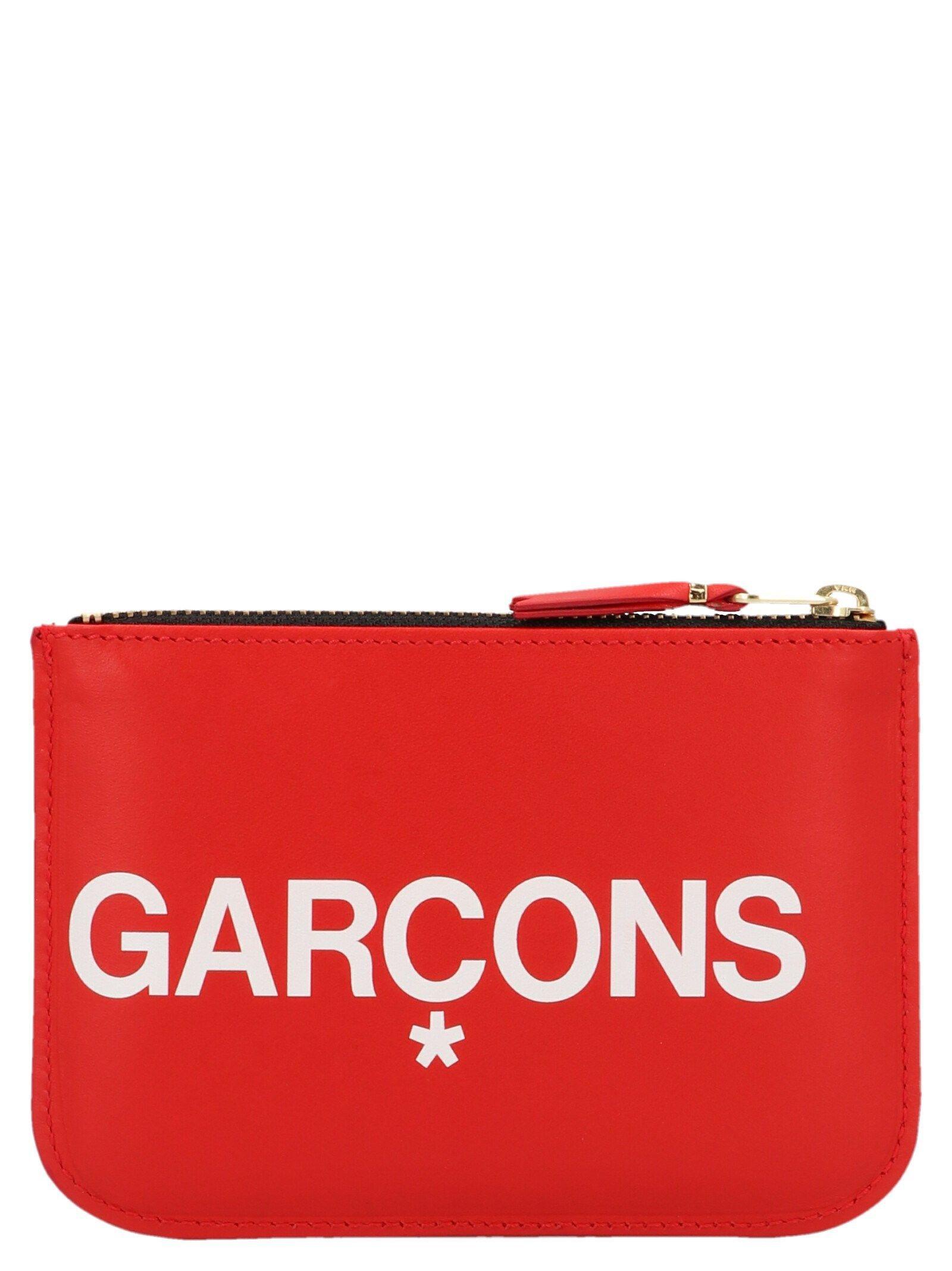 COMME DES GARÇONS MEN'S SA8100HL2RED RED LEATHER WALLET