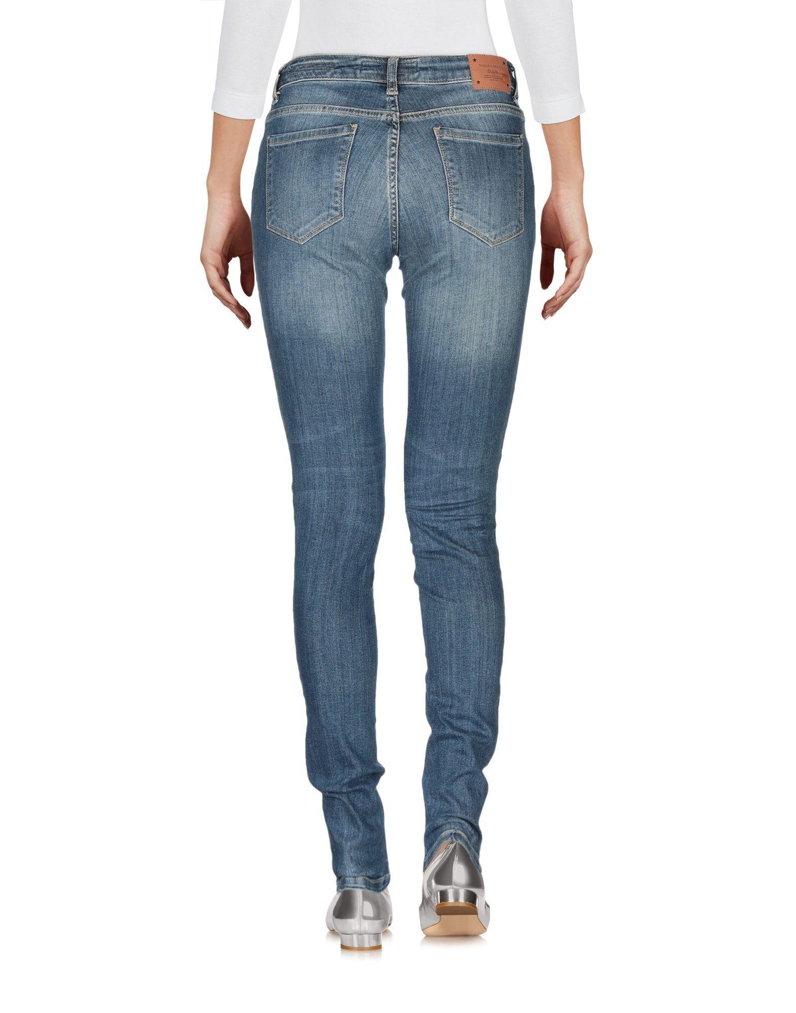 Silvian Heach Women's Denim Trousers Cotton