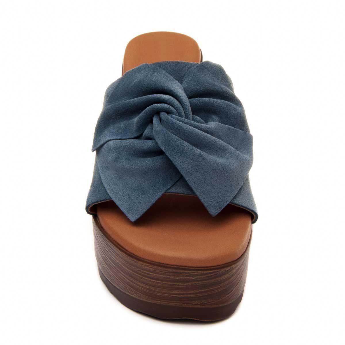 Montevita Platform Sandal in Blue